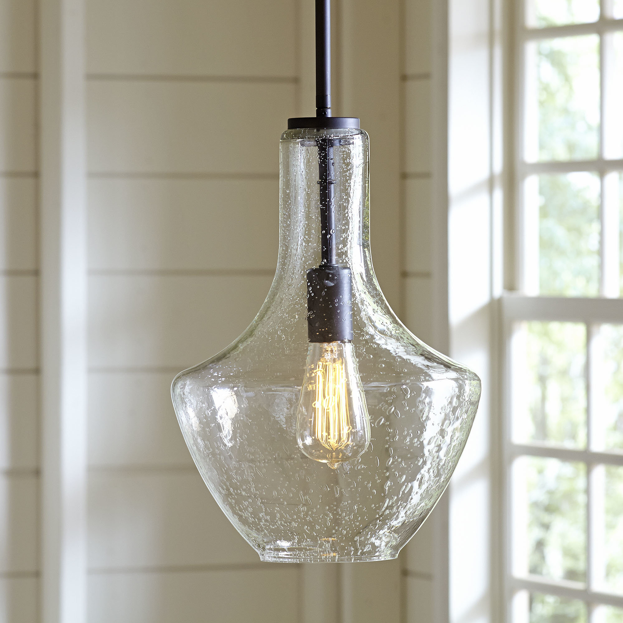 Goffredo 1 Light Schoolhouse Pendant For Well Known Scruggs 1 Light Geometric Pendants (View 11 of 25)