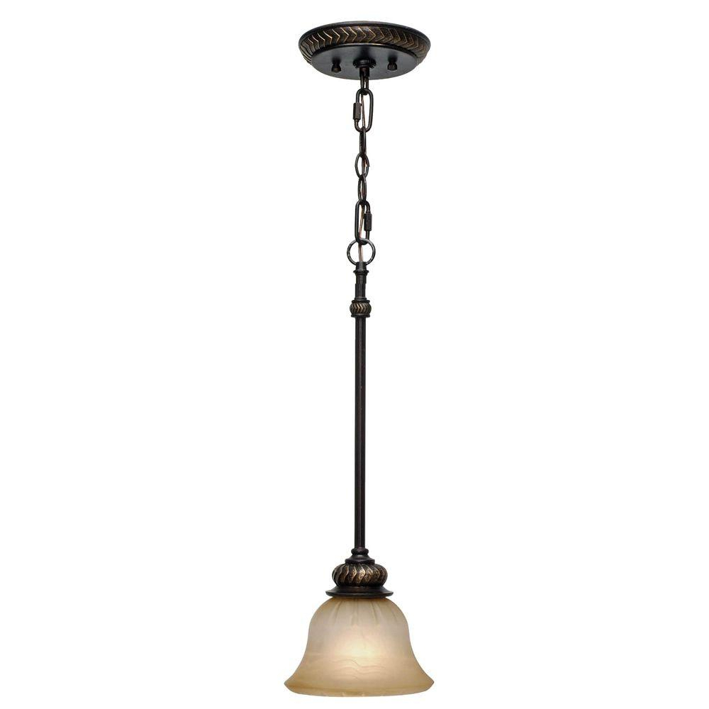 Golden Lighting Florian Collection 1 Light Etruscan Bronze Throughout Most Recently Released Grullon Scroll 1 Light Single Bell Pendants (View 12 of 25)