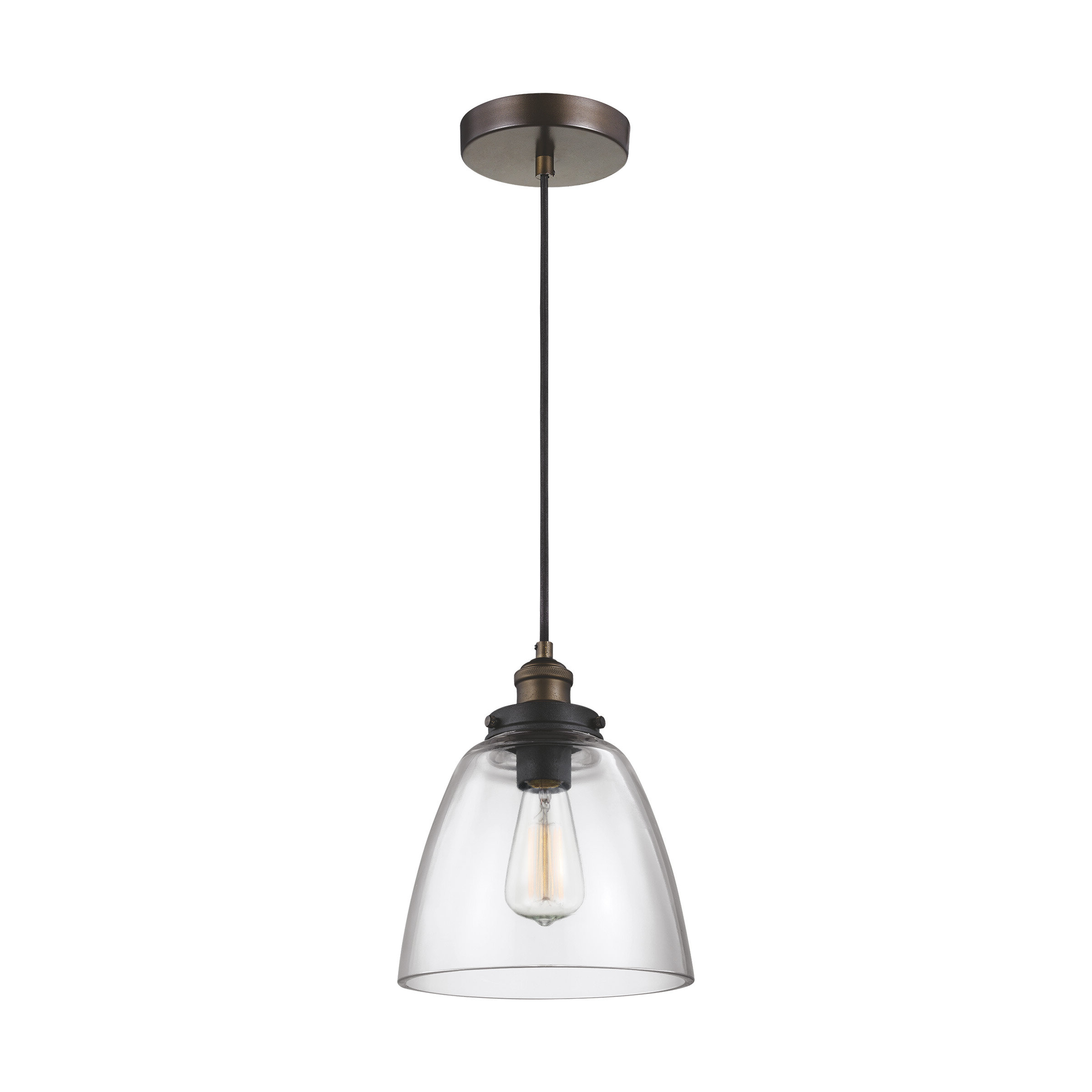 Goldie 1 Light Single Bell Pendants With Regard To Preferred Bedford 1 Light Single Cone Pendant (View 14 of 25)