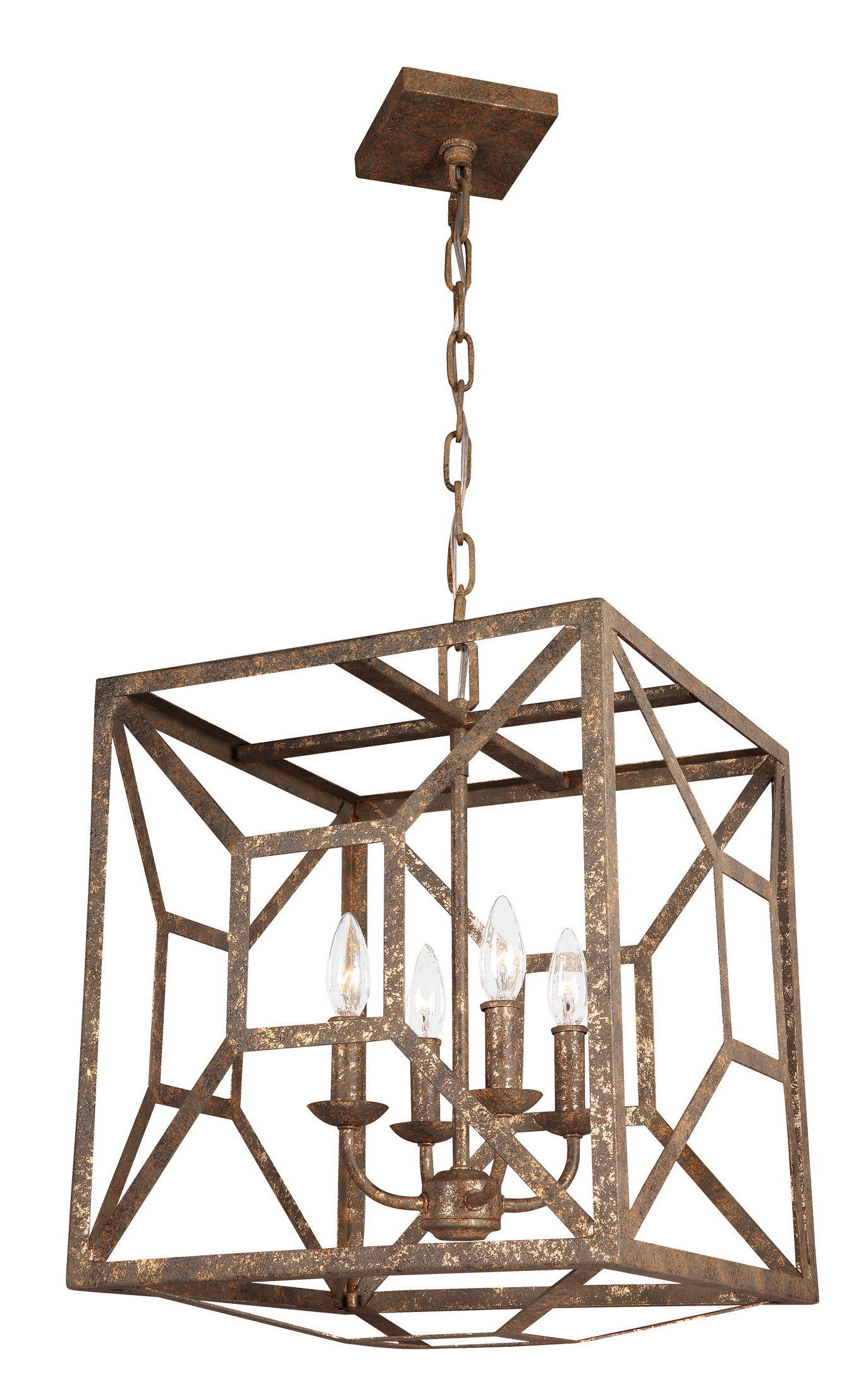 Gracie Oaks Jayanth 4 Light Square/rectangle Chandelier Within Most Popular Delon 4 Light Square Chandeliers (View 7 of 25)