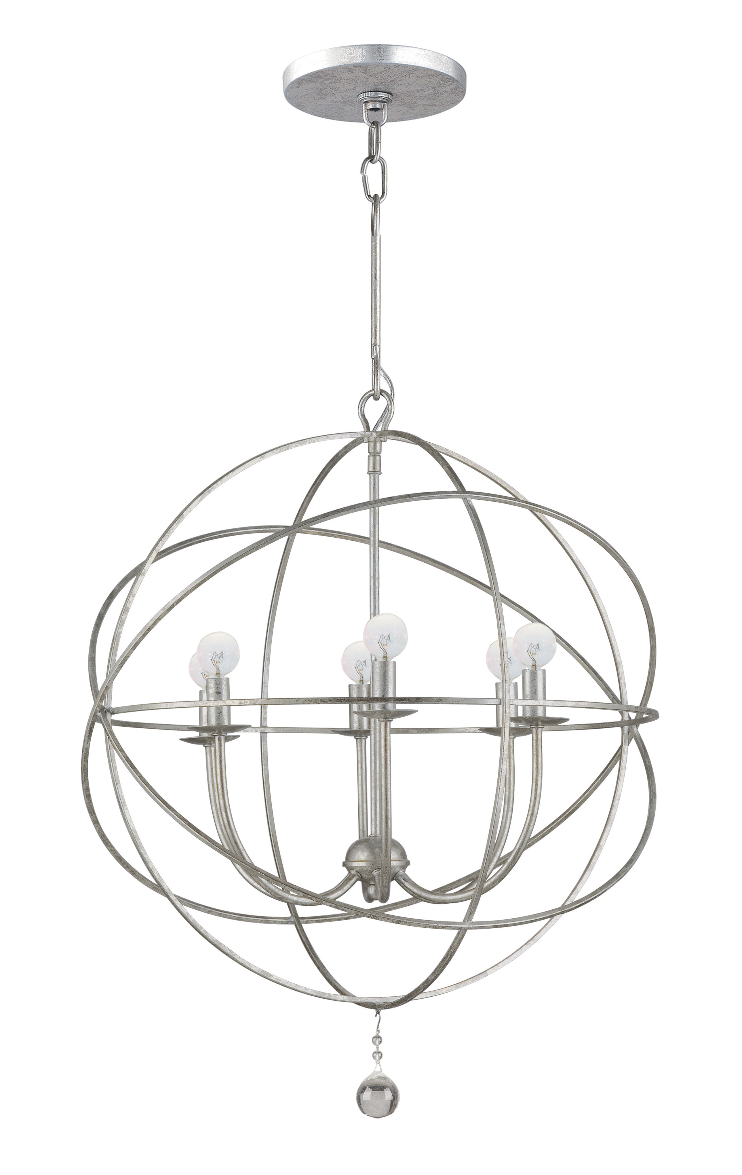 Gregoire 6 Light Globe Chandelier In Popular Alden 6 Light Globe Chandeliers (View 15 of 25)