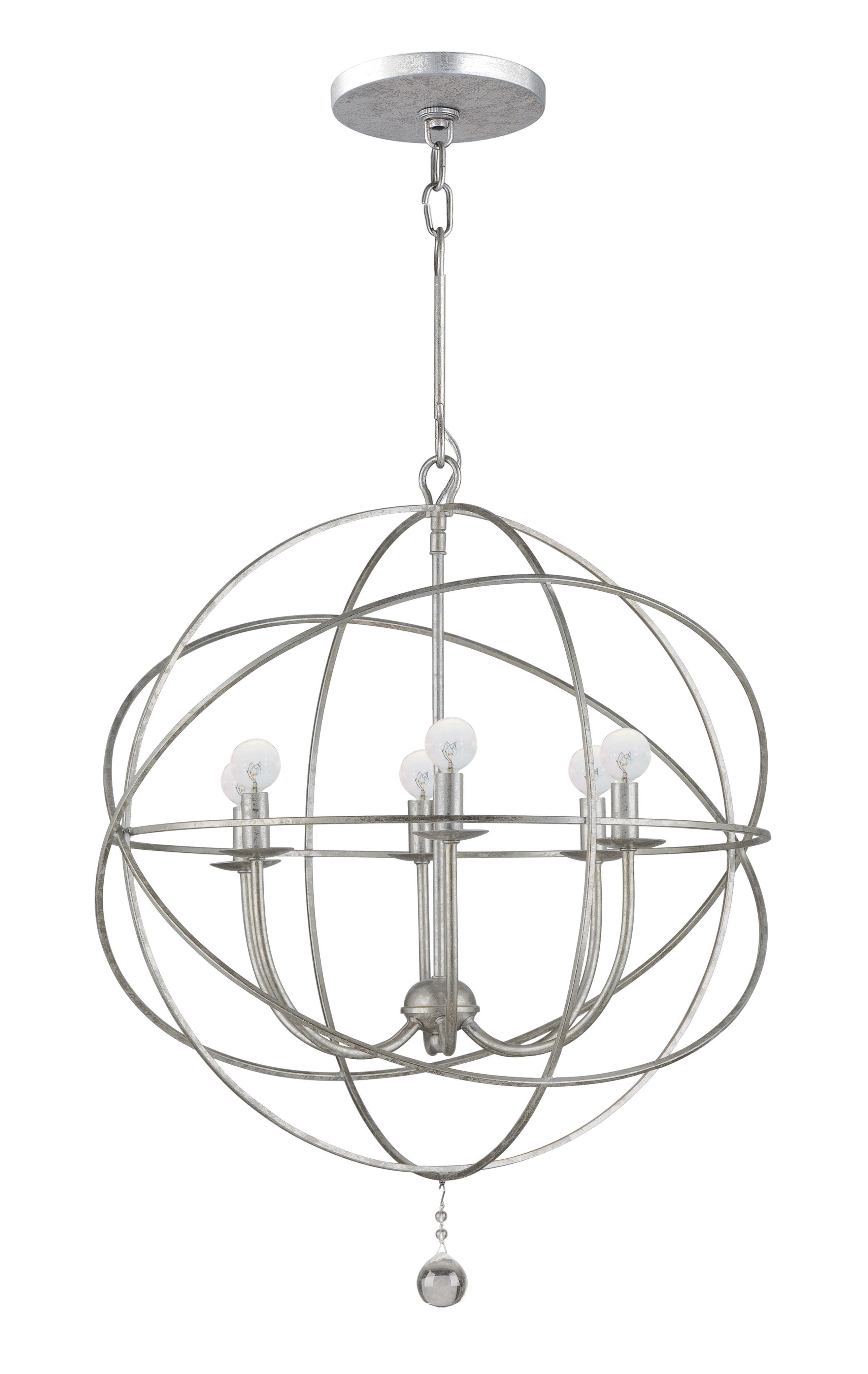 Gregoire 6 Light Globe Chandelier In Popular Alden 6 Light Globe Chandeliers (View 14 of 25)