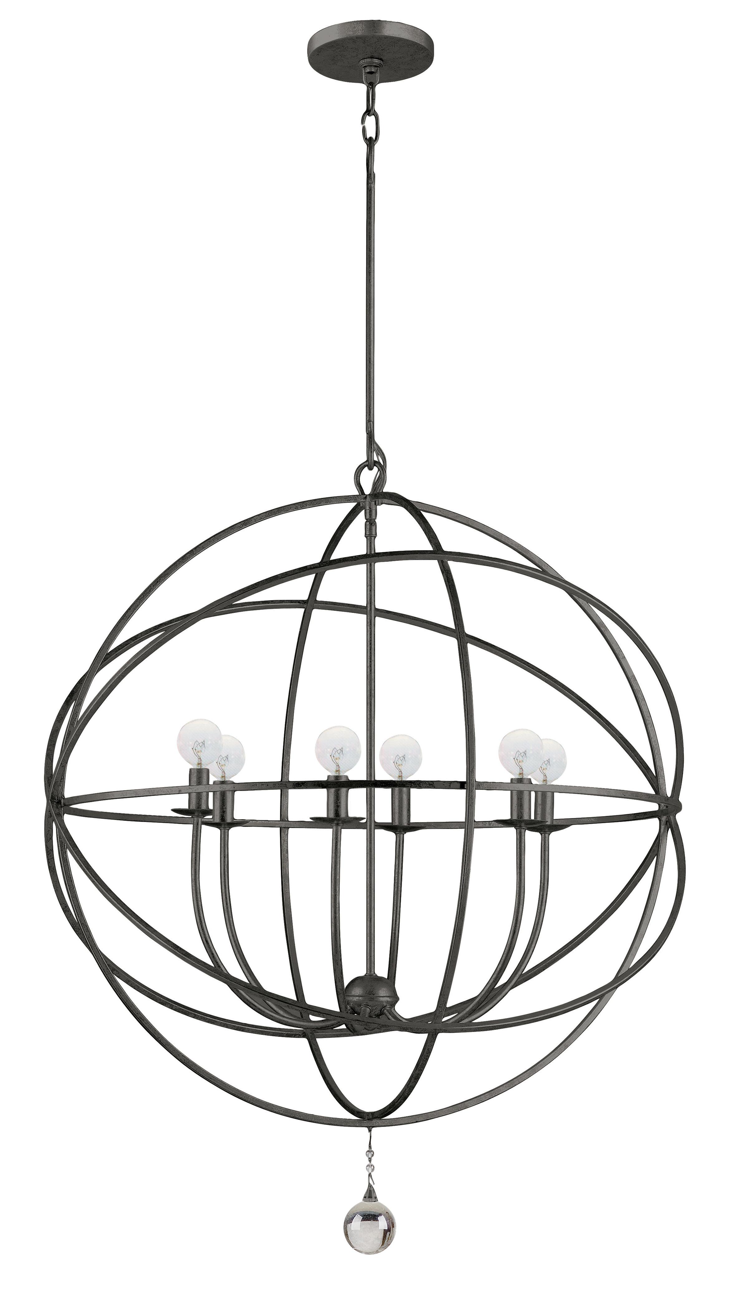 Gregoire 6 Light Globe Chandelier Intended For Current Gregoire 6 Light Globe Chandeliers (View 2 of 25)