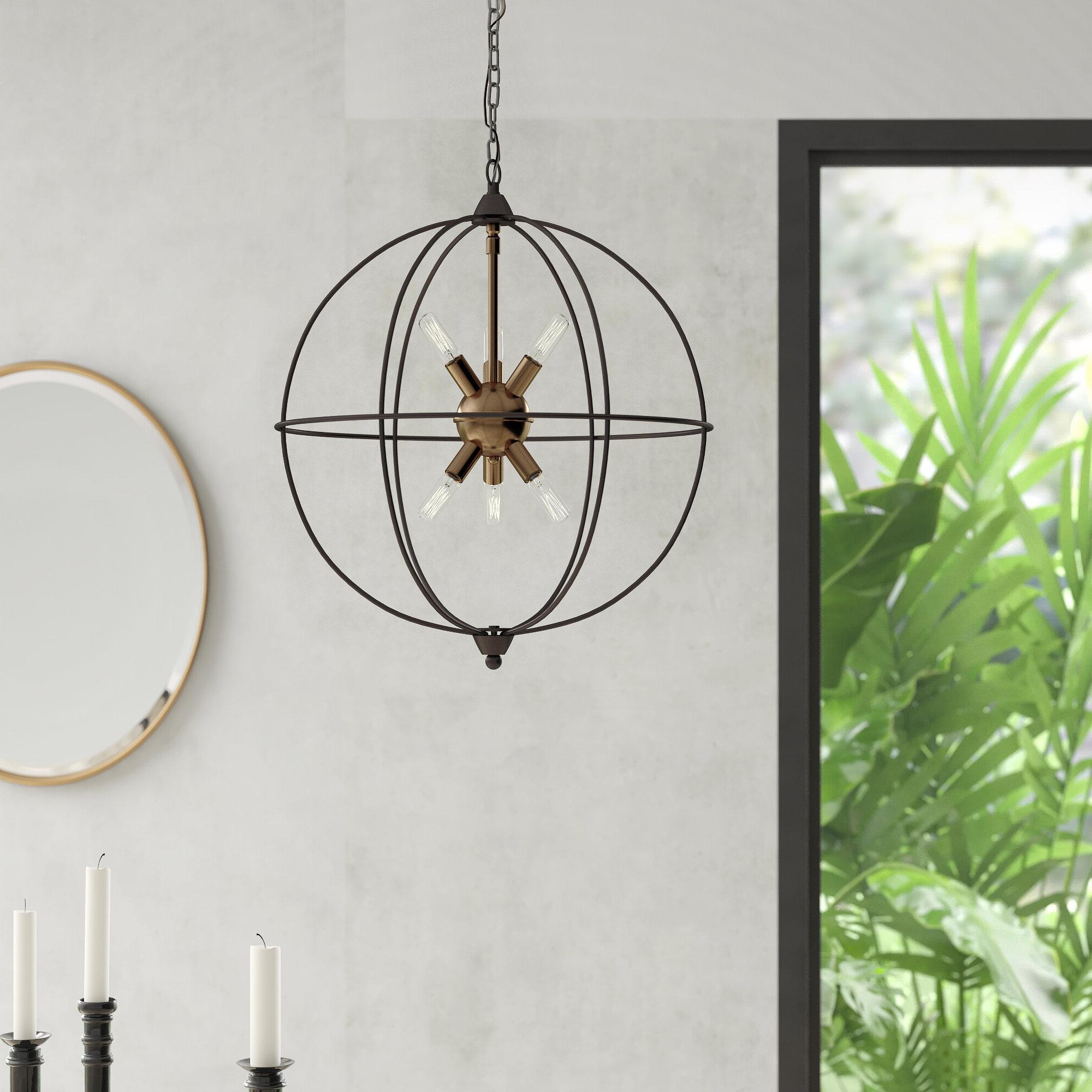 Gregoire 6 Light Globe Chandeliers Inside Most Up To Date Cogdill 6 Light Globe Chandelier (View 13 of 25)