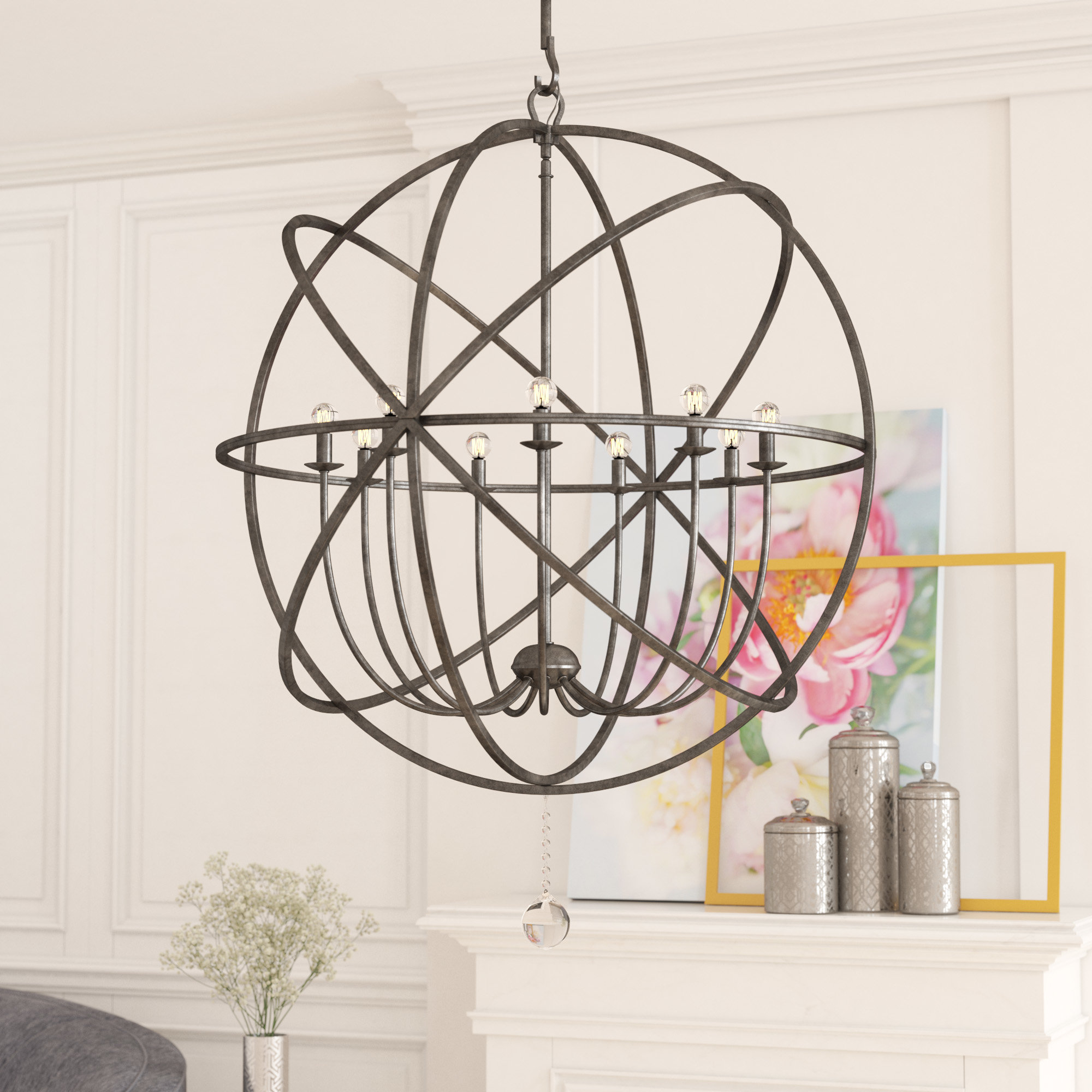 Gregoire 9 Light Globe Chandelier Throughout Most Current Gregoire 6 Light Globe Chandeliers (View 15 of 25)