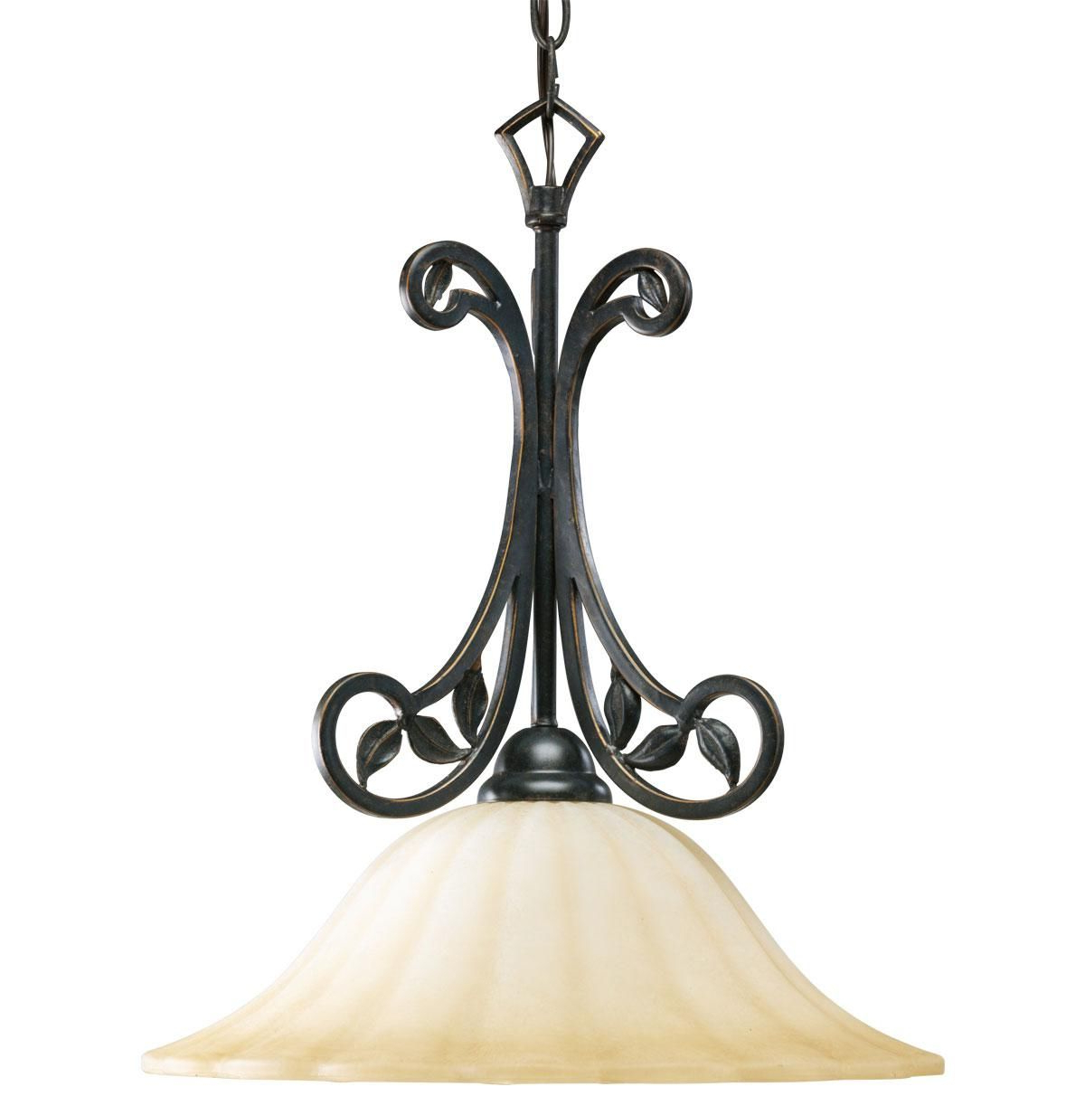 Grullon Scroll 1 Light Single Bell Pendants Intended For Well Known Le Jardin Pendant (View 15 of 25)