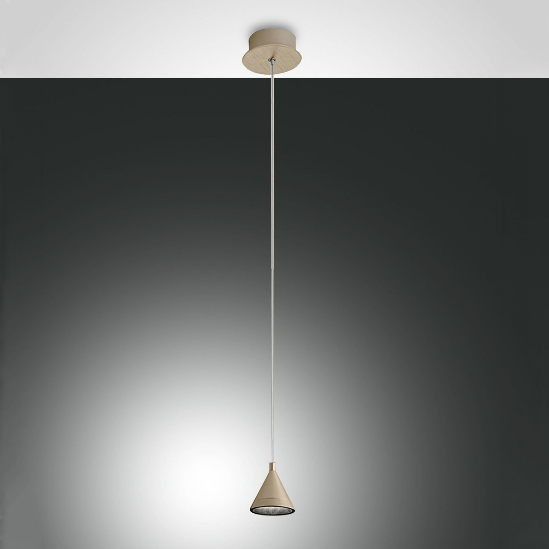 Guro 1 Light Cone Pendants Pertaining To Latest Fabas Luce Delta Led Ceiling Pendant Light (View 10 of 25)