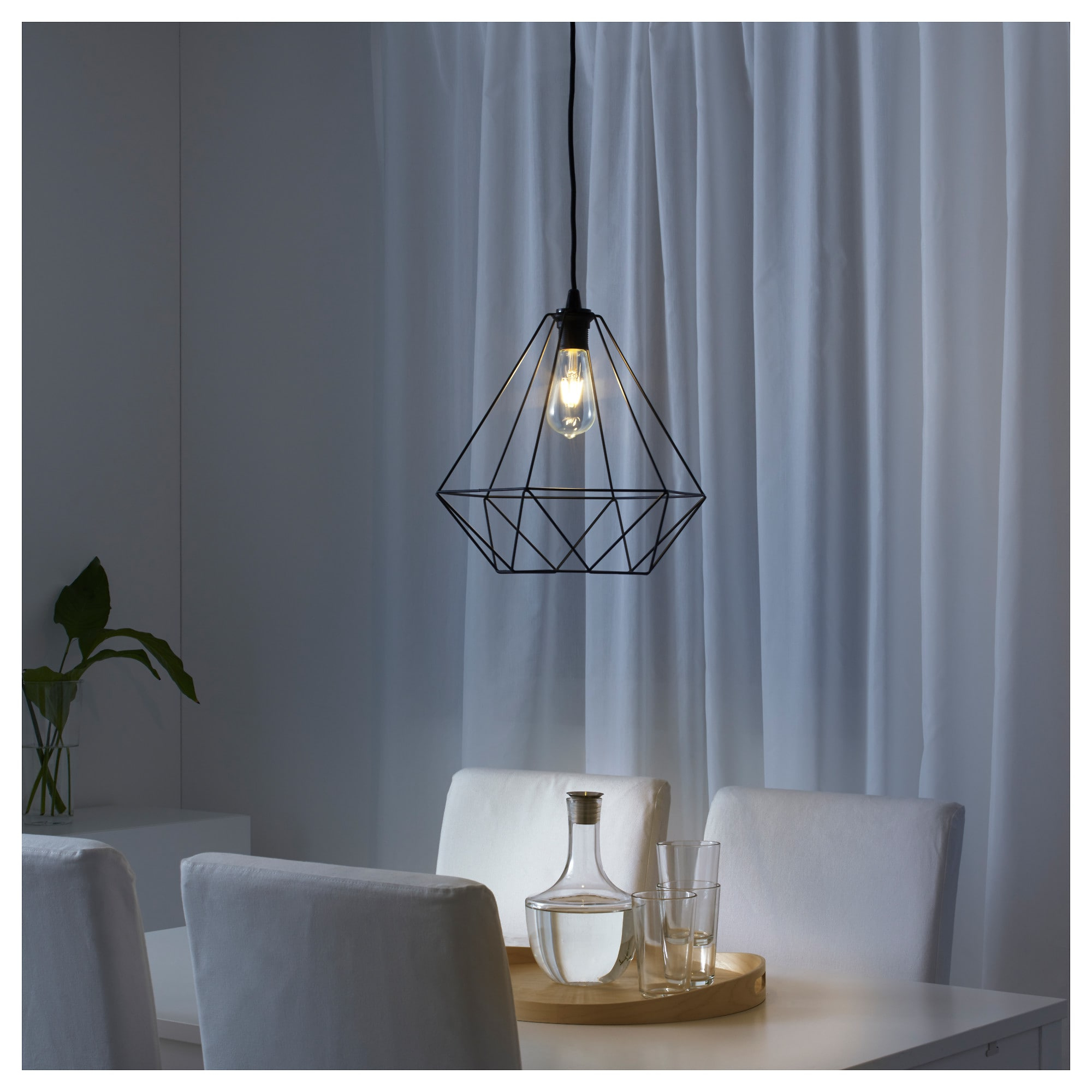Guro 1 Light Cone Pendants Throughout Latest Ikea Brunsta Black Pendant Lamp Shade (View 10 of 25)