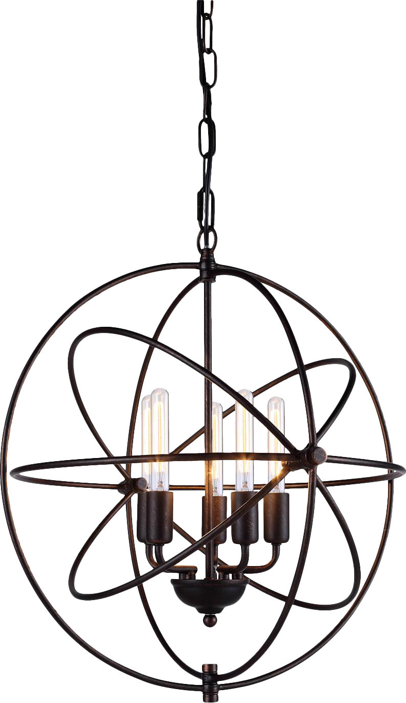 Hamby 5 Light Globe Chandelier With Fashionable Verlene Foyer 5 Light Globe Chandeliers (Gallery 10 of 25)
