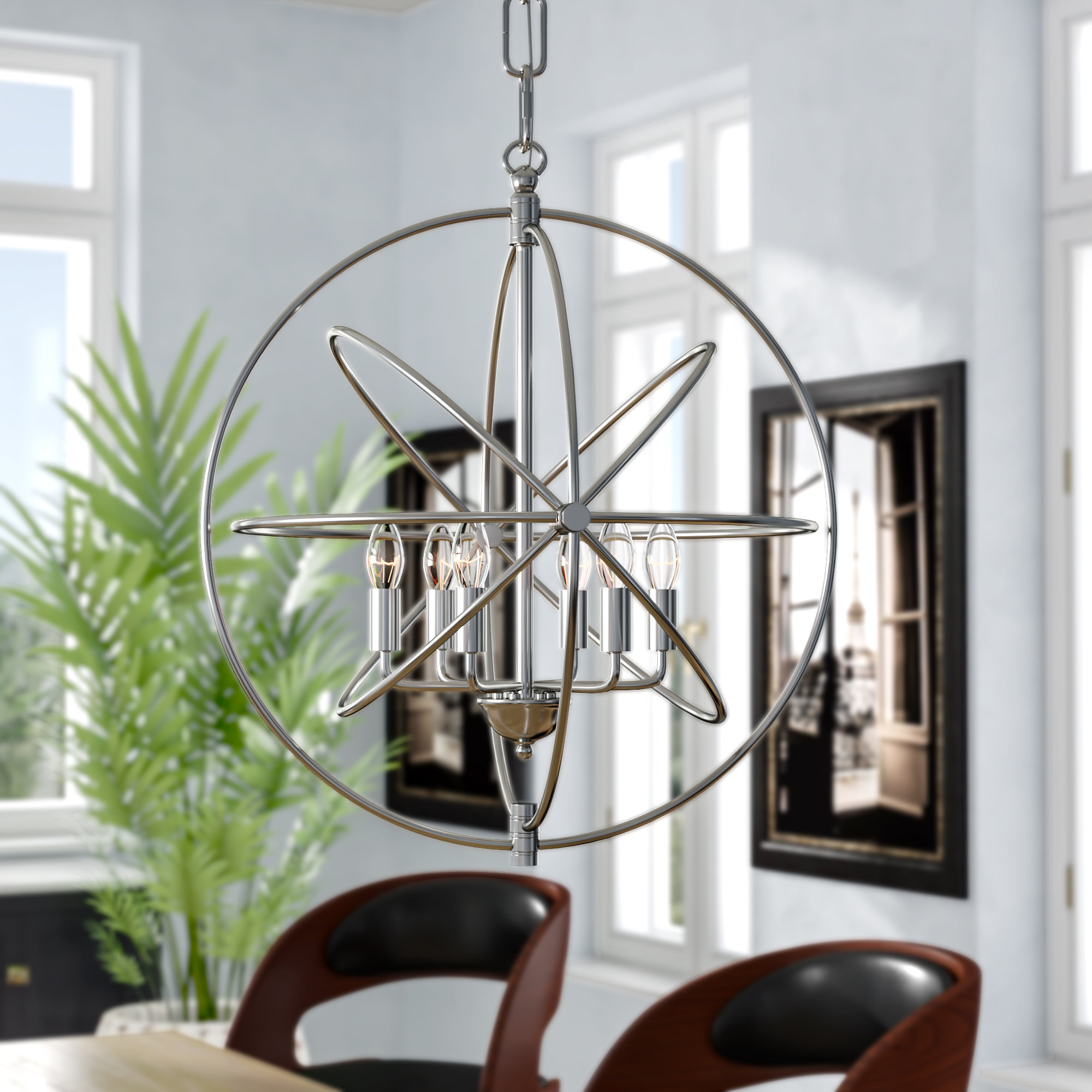 Hamby 6 Light Globe Chandelier With Recent Gregoire 6 Light Globe Chandeliers (Gallery 17 of 25)