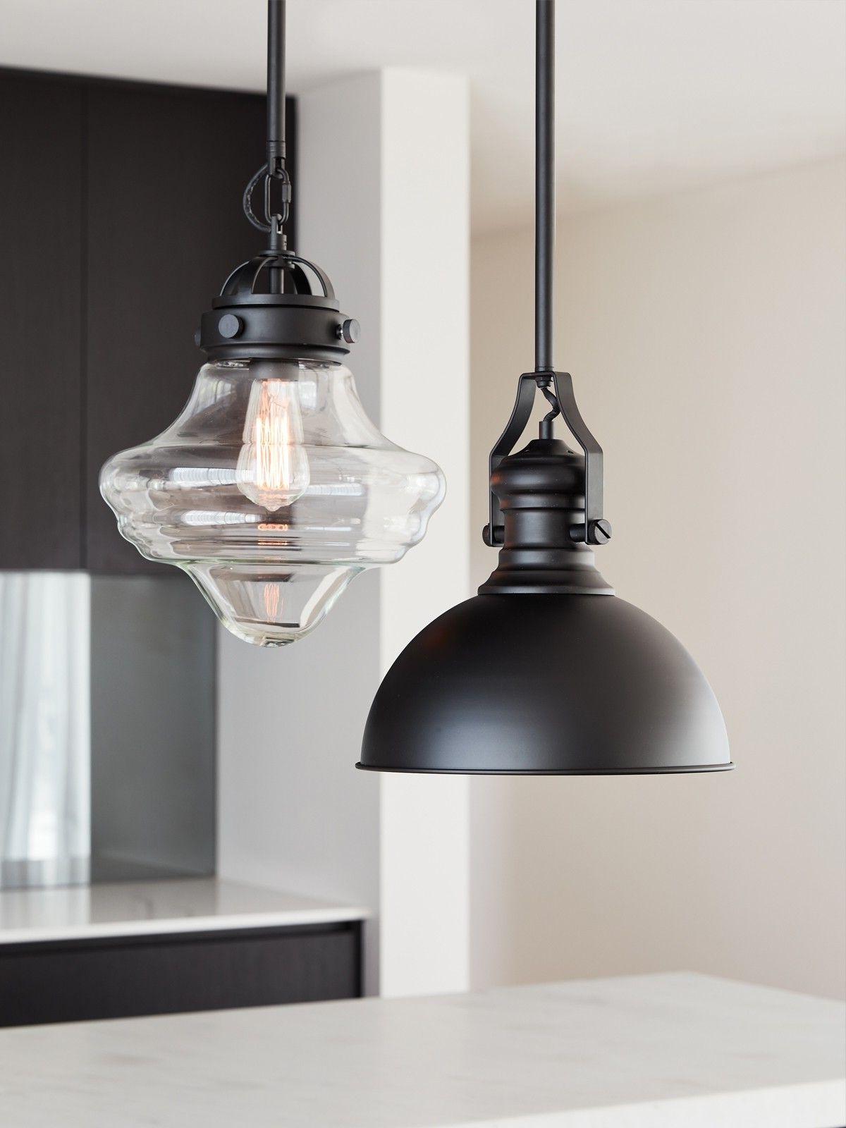 Hamilton 1 Light Single Dome Pendants Throughout Fashionable Hamilton 1 Light Pendant In Black (Gallery 9 of 25)