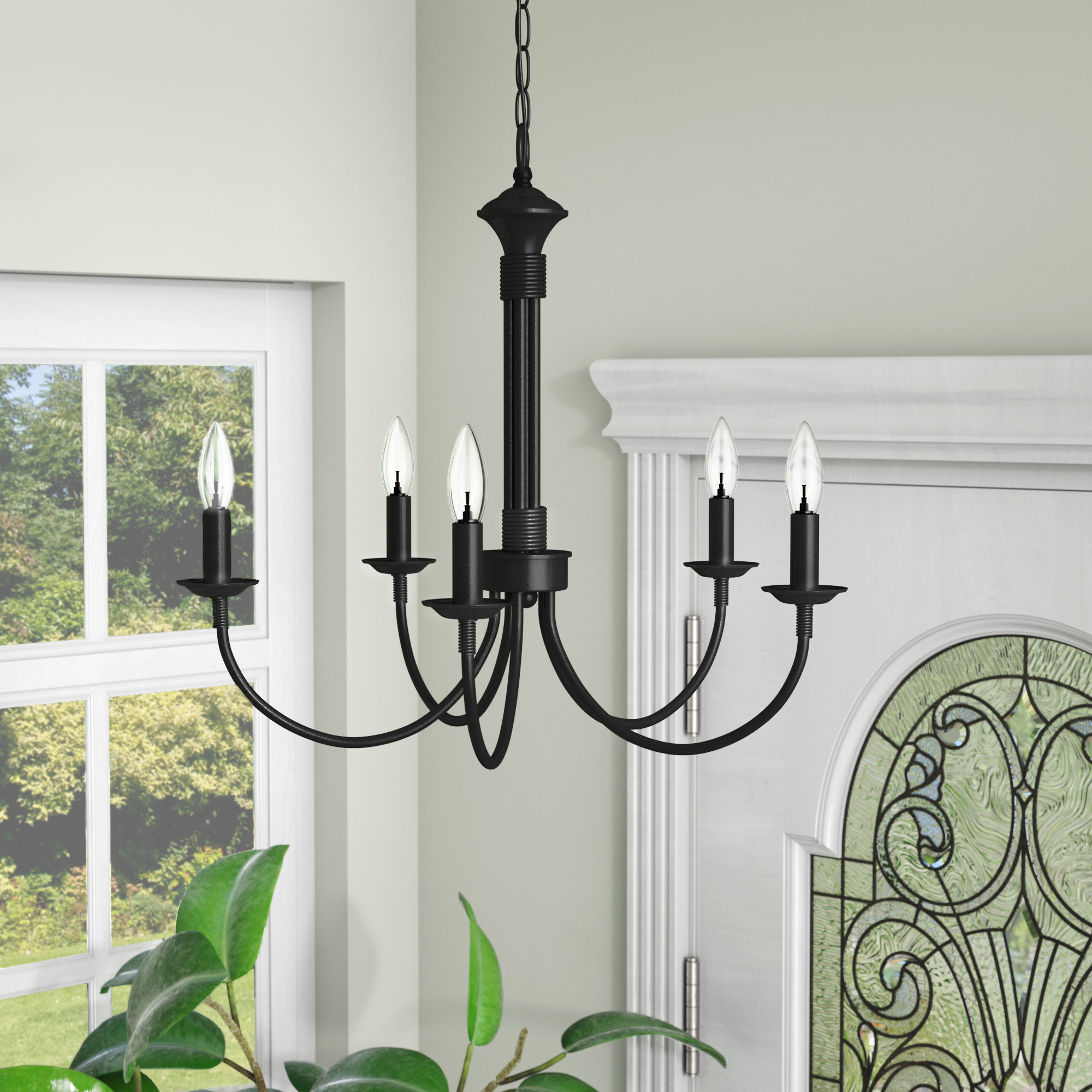 Hamza 6 Light Candle Style Chandeliers In Trendy Shaylee 5 Light Candle Style Chandelier (Gallery 20 of 25)