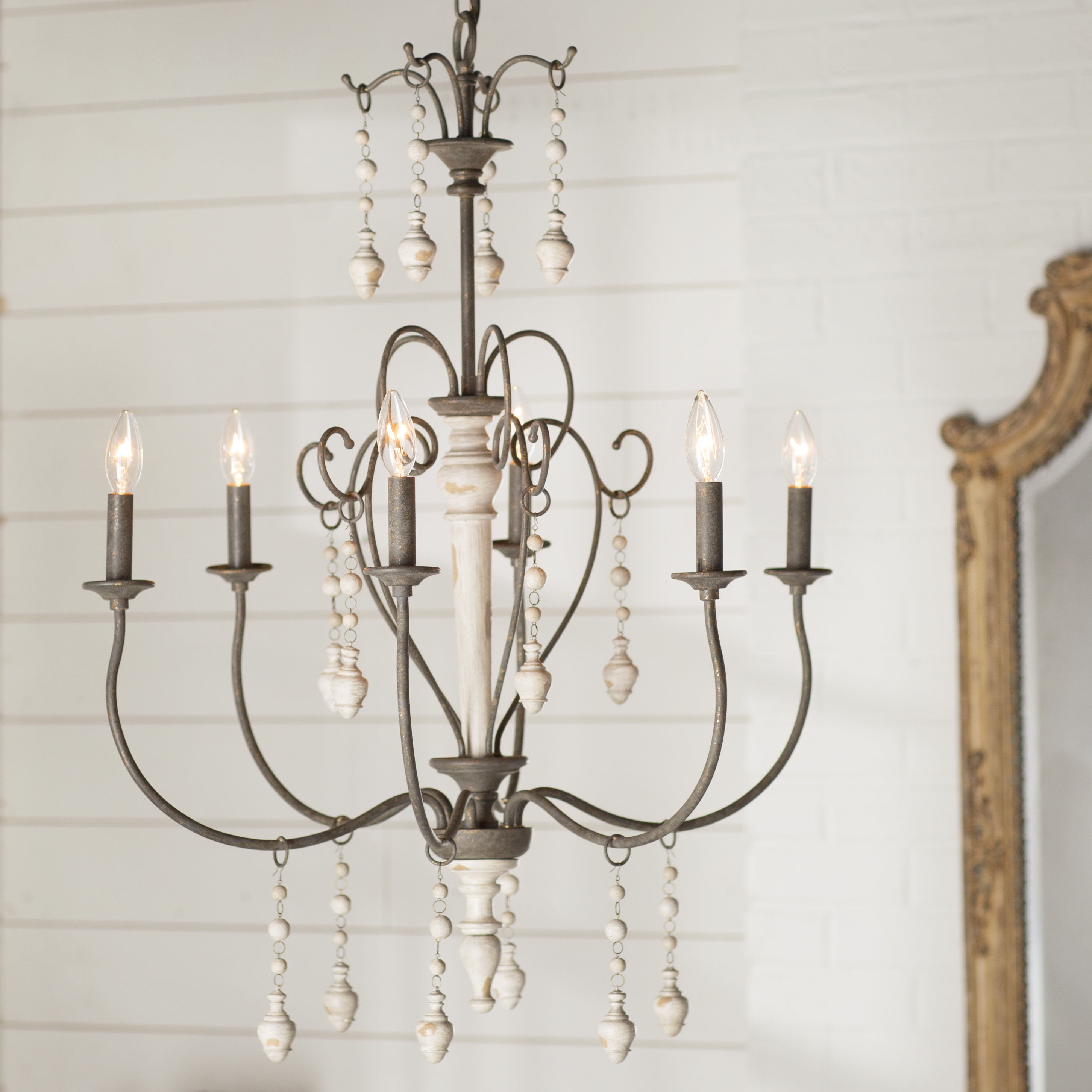 Hamza 6 Light Candle Style Chandeliers Intended For Well Liked Farmhouse & Rustic Candle Style Chandeliers (Gallery 8 of 25)