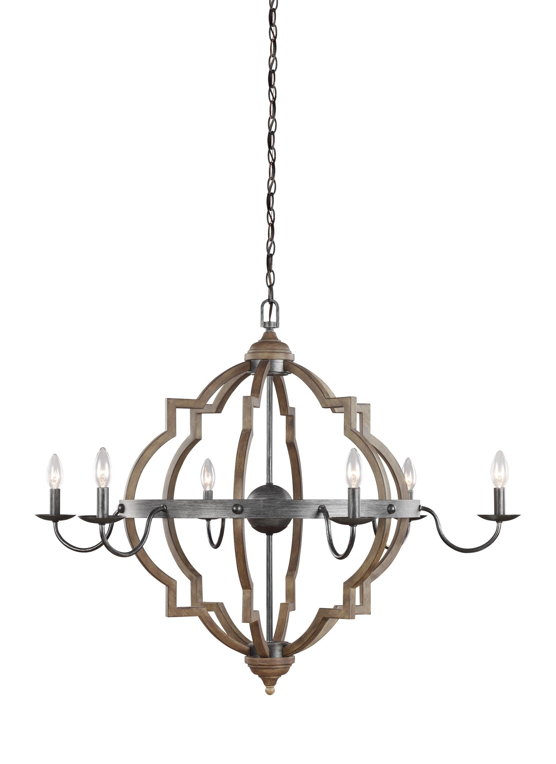 Hamza 6 Light Candle Style Chandeliers With Fashionable Donna 6 Light Candle Style Chandelier (Gallery 18 of 25)