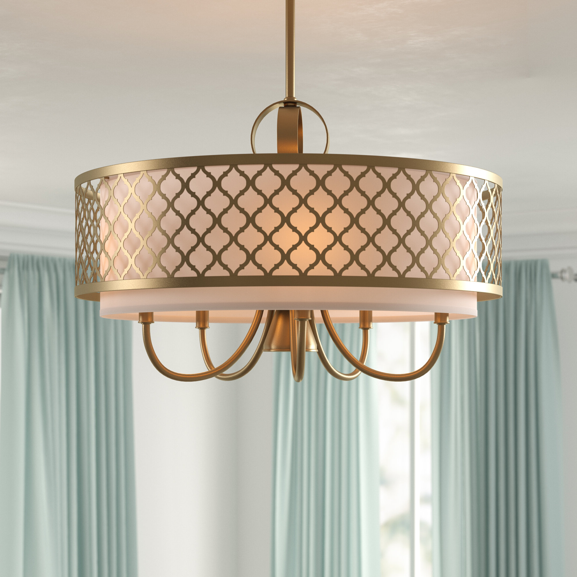 Harlan 5 Light Drum Chandeliers For Most Up To Date Tymvou 6 Light Drum Chandelier (View 19 of 25)