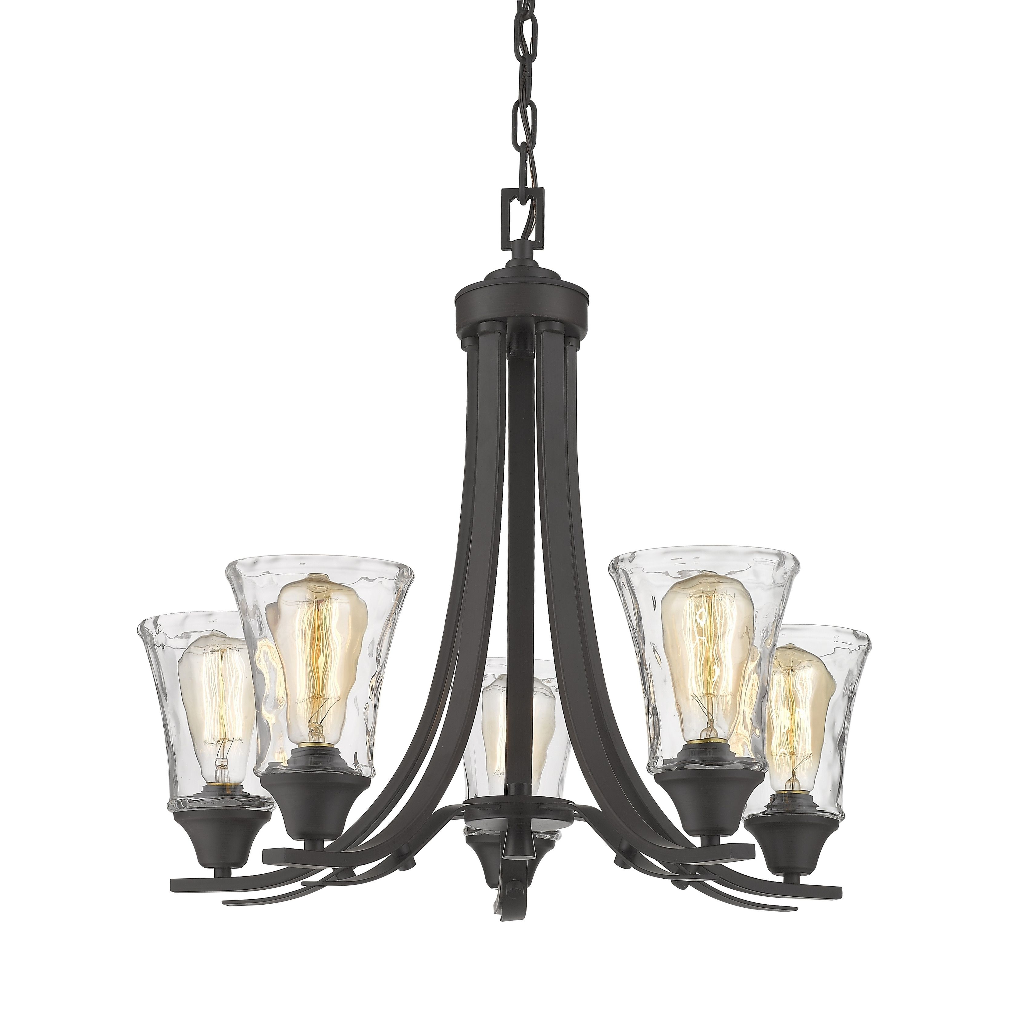 Hayden 5 Light Shaded Chandeliers With Regard To Fashionable Hayden Antique Bronze Finished Metal (Grey) 23 Inch X 21 (Gallery 7 of 25)