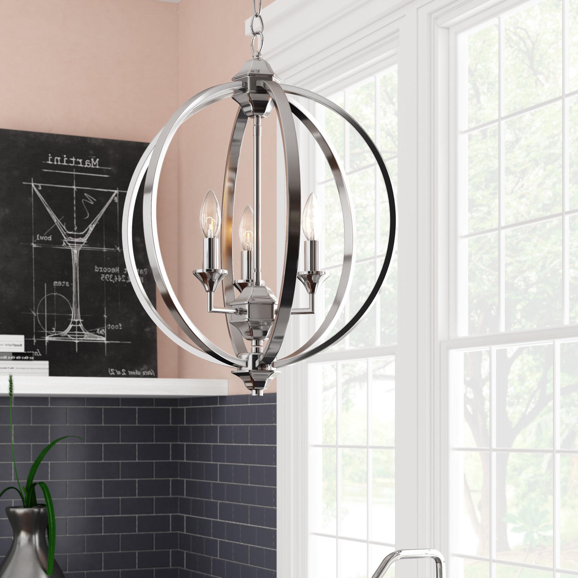 Hendry 4 Light Globe Chandeliers Regarding Fashionable Minneota 3 Light Globe Chandelier (Gallery 16 of 25)