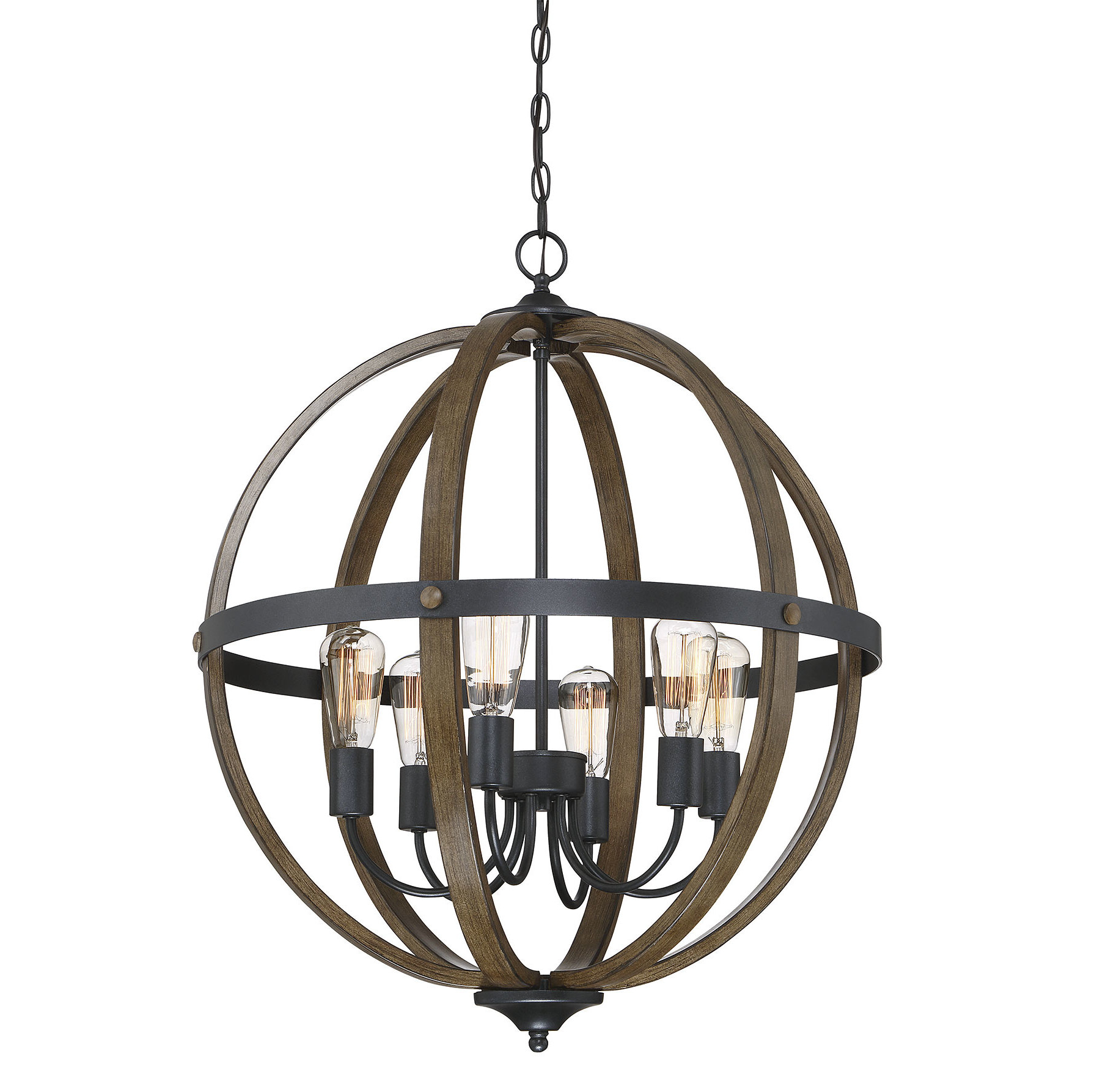 Hendry 4 Light Globe Chandeliers Within Famous Farmhouse & Rustic Globe Chandeliers (View 14 of 25)
