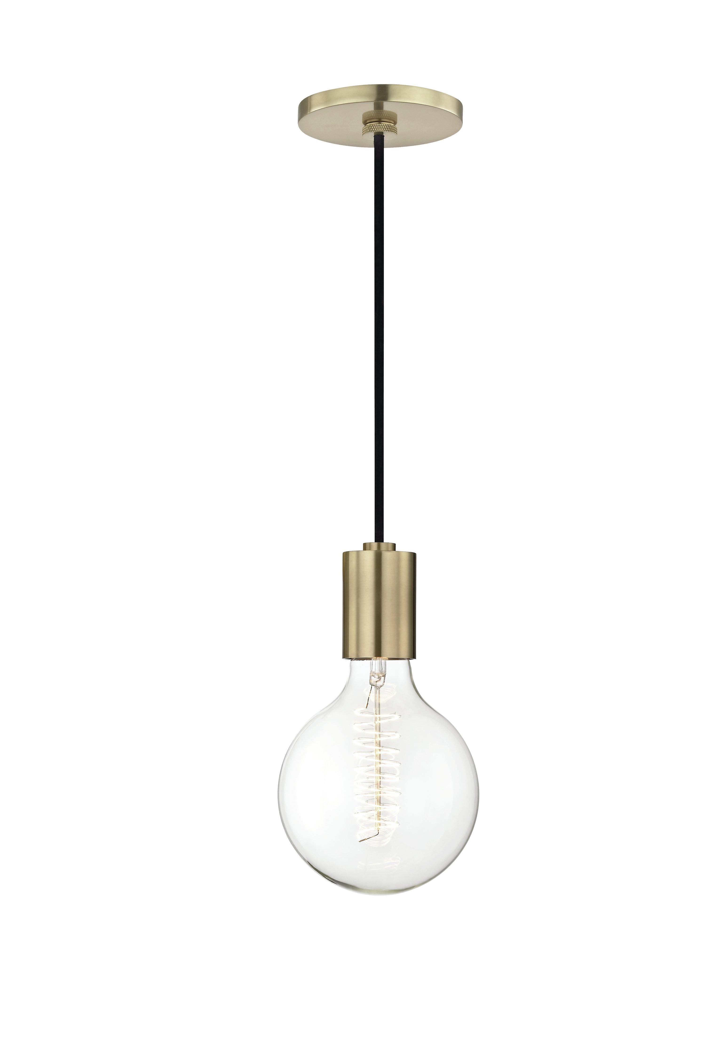Henry 1-Light Single Globe Pendant with regard to Favorite Bryker 1-Light Single Bulb Pendants