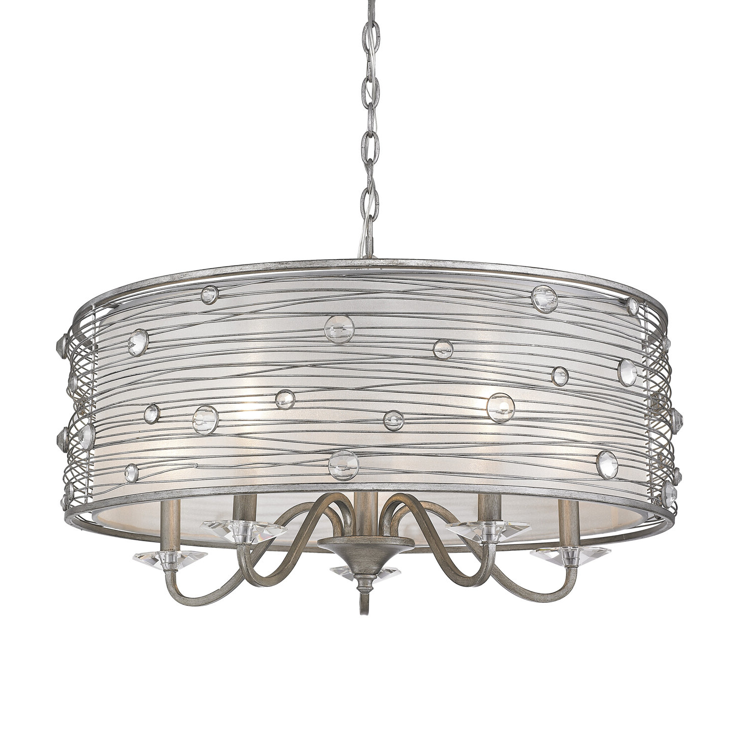 Hermione 5-Light Drum Chandelier intended for Well-liked Buster 5-Light Drum Chandeliers