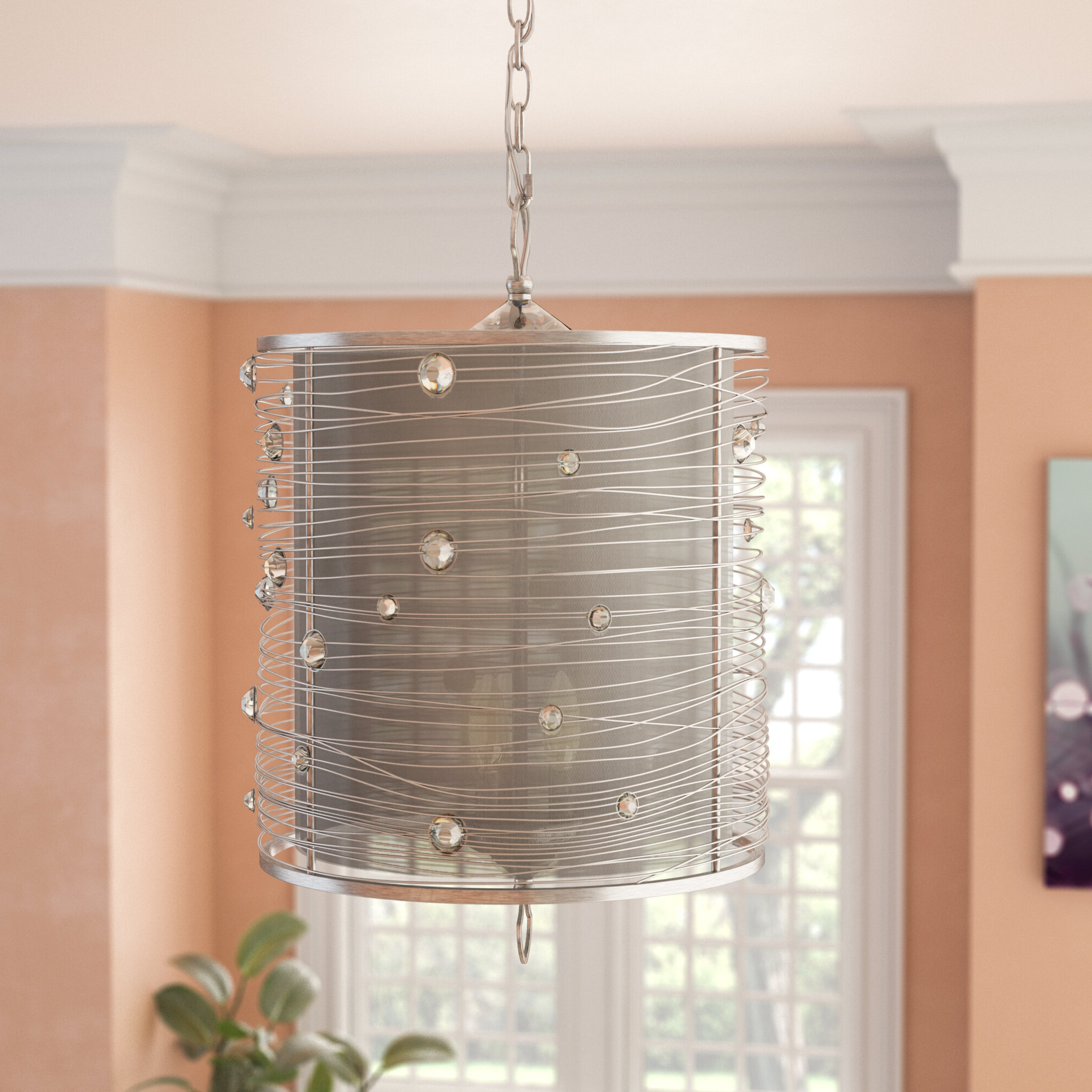 Hermione 5-Light Drum Chandeliers in Fashionable Hermione 3-Light Single Drum Pendant