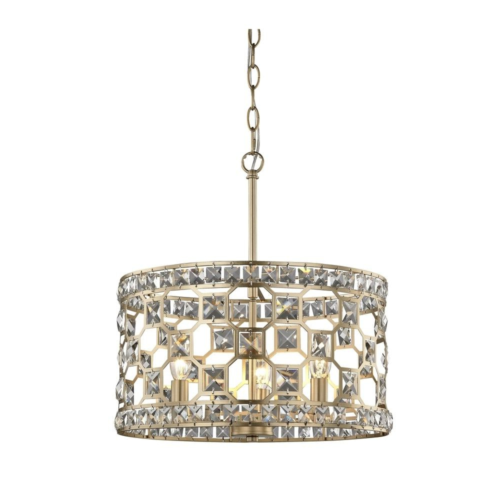 "Hermione 5-Light Drum Chandeliers intended for Widely used Metropolitan N6775-293 Coronade 5-Light 22"" Wide Drum"
