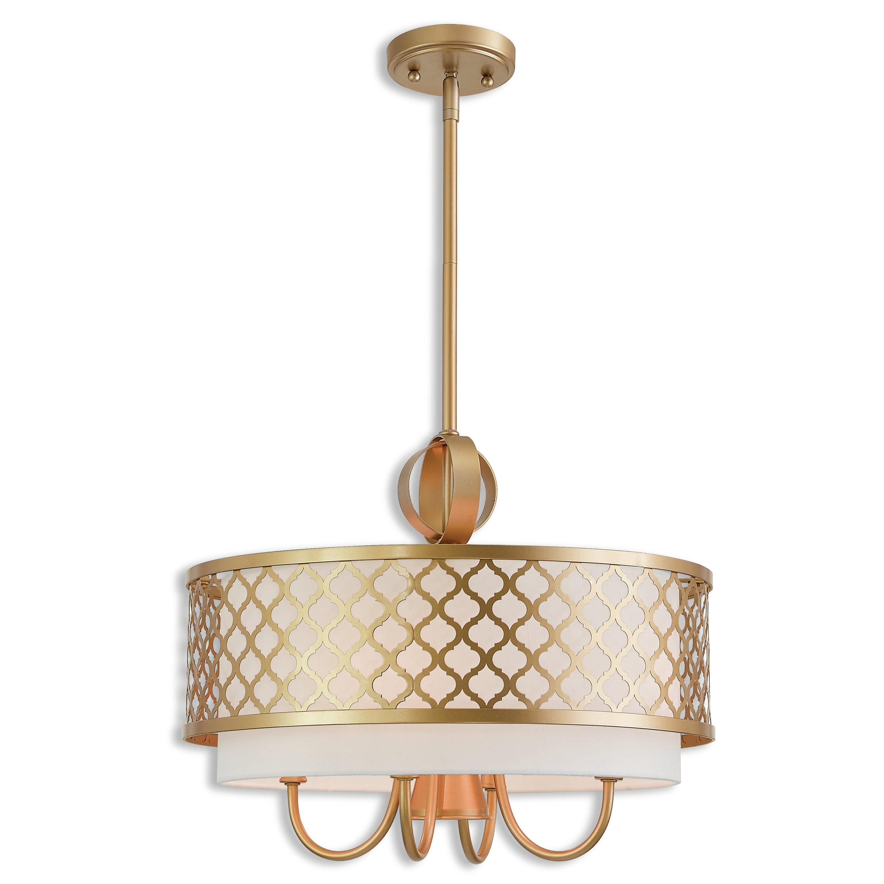 Hermione 5-Light Drum Chandeliers pertaining to Well-liked Tymvou 5-Light Drum Chandelier
