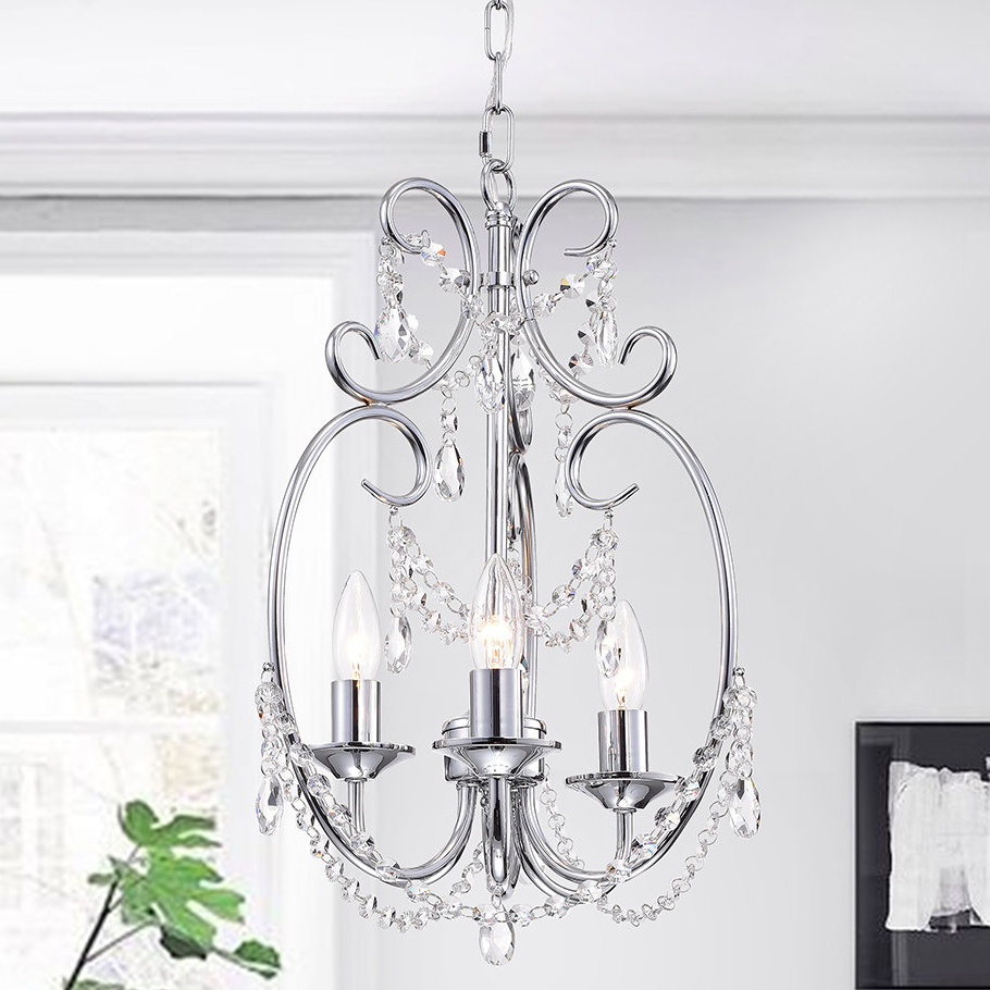 Hesse 5 Light Candle Style Chandeliers Pertaining To Trendy House Of Hampton Alasdair 3 Light Candle Style Chandelier (View 16 of 25)