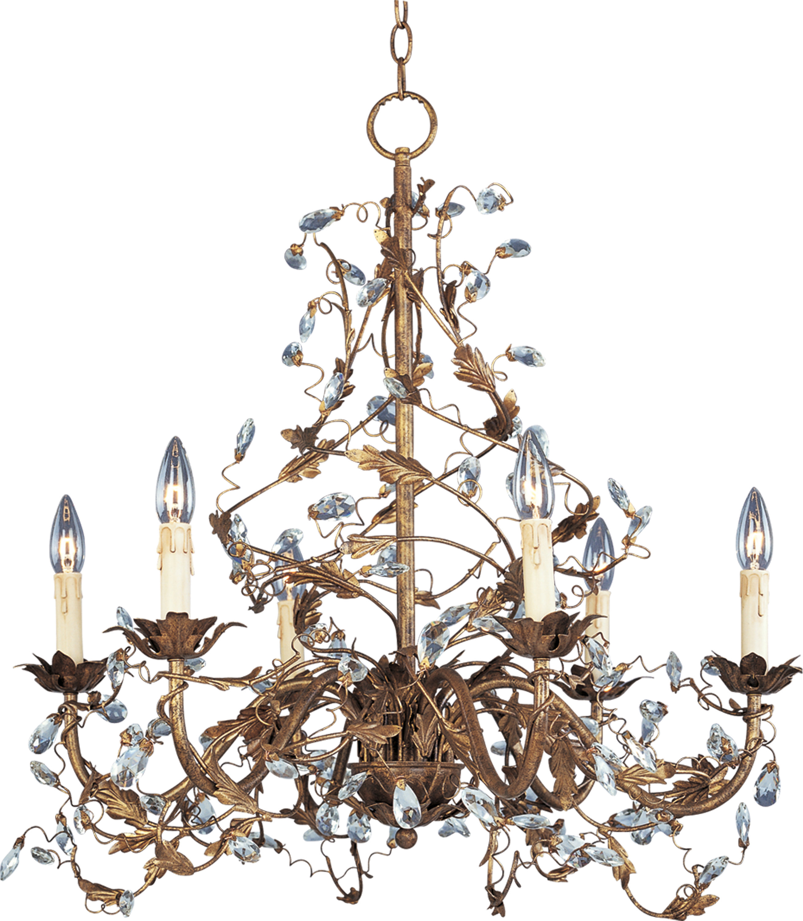 Hesse 5 Light Candle-Style Chandeliers with regard to Latest Kaiya 6-Light Candle Style Chandelier