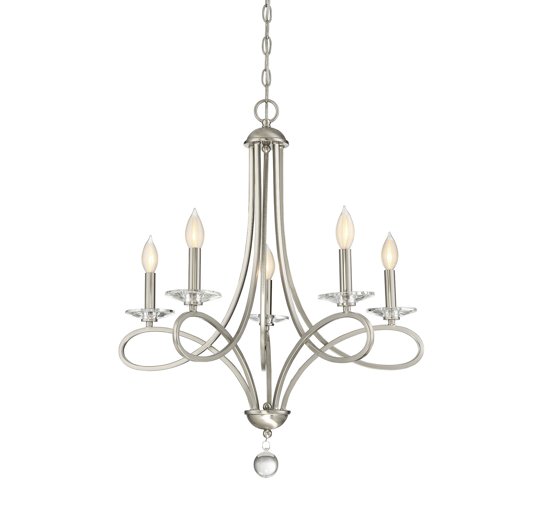 Hesse 5 Light Candle Style Chandeliers Within Most Up To Date Willa Arlo Interiors Berger 5 Light Candle Style Chandelier (Gallery 6 of 25)