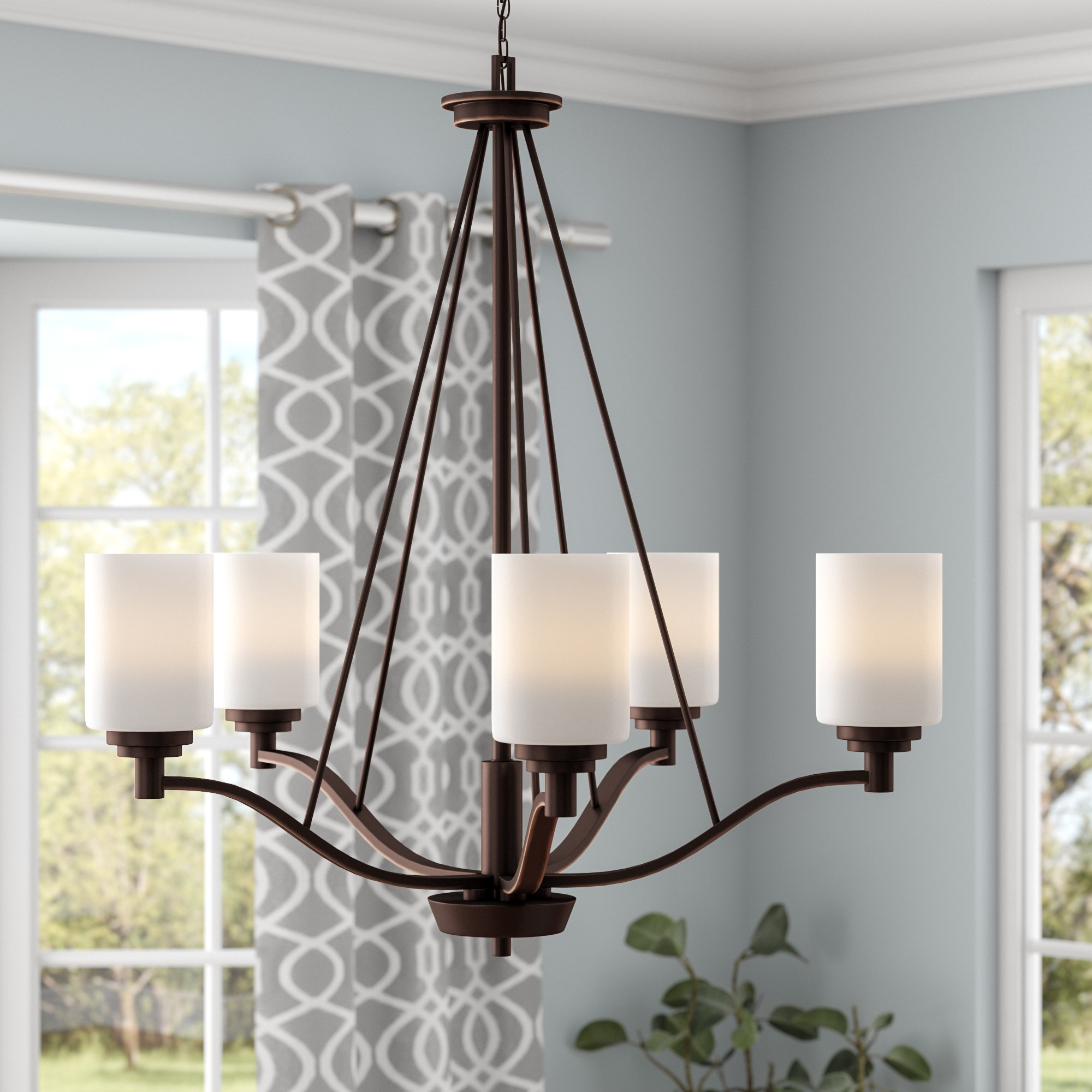 Hester 5 Light Shaded Chandelier Throughout Favorite Newent 5 Light Shaded Chandeliers (Gallery 14 of 25)
