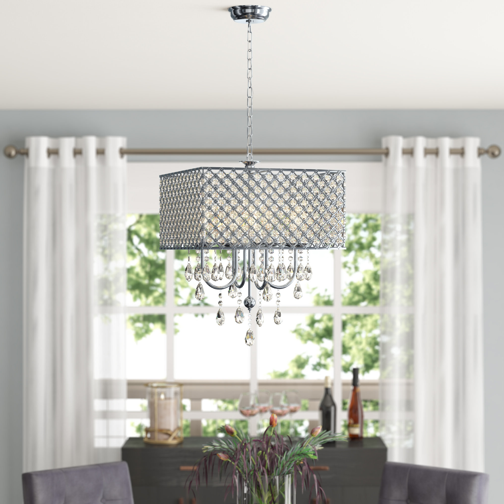 Holford 4-Light Crystal Chandelier with regard to Favorite Aldgate 4-Light Crystal Chandeliers