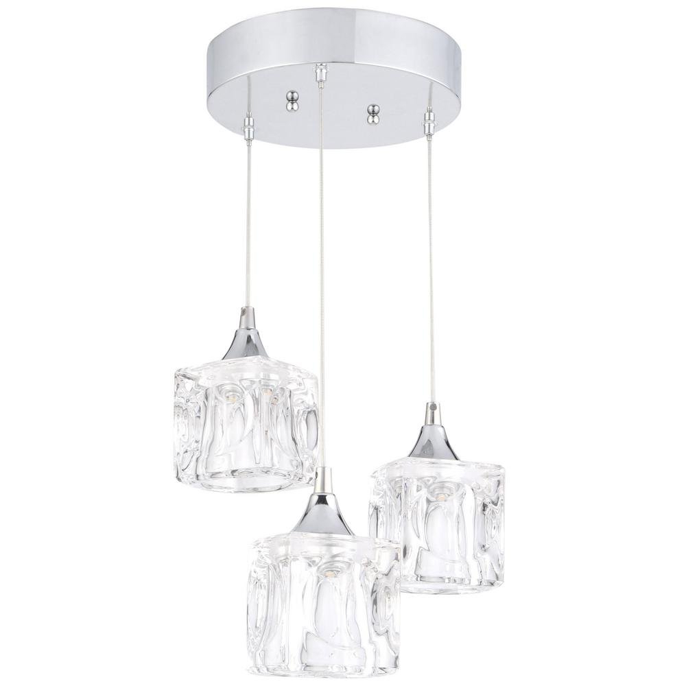 Home Decorators Collection 3 Light Led Pendant with Well known Burslem 3-Light Single Drum Pendants