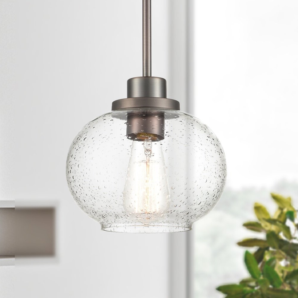 Houon 1-Light Cone Bell Pendants for Recent Wiesner 1-Light Globe Pendant