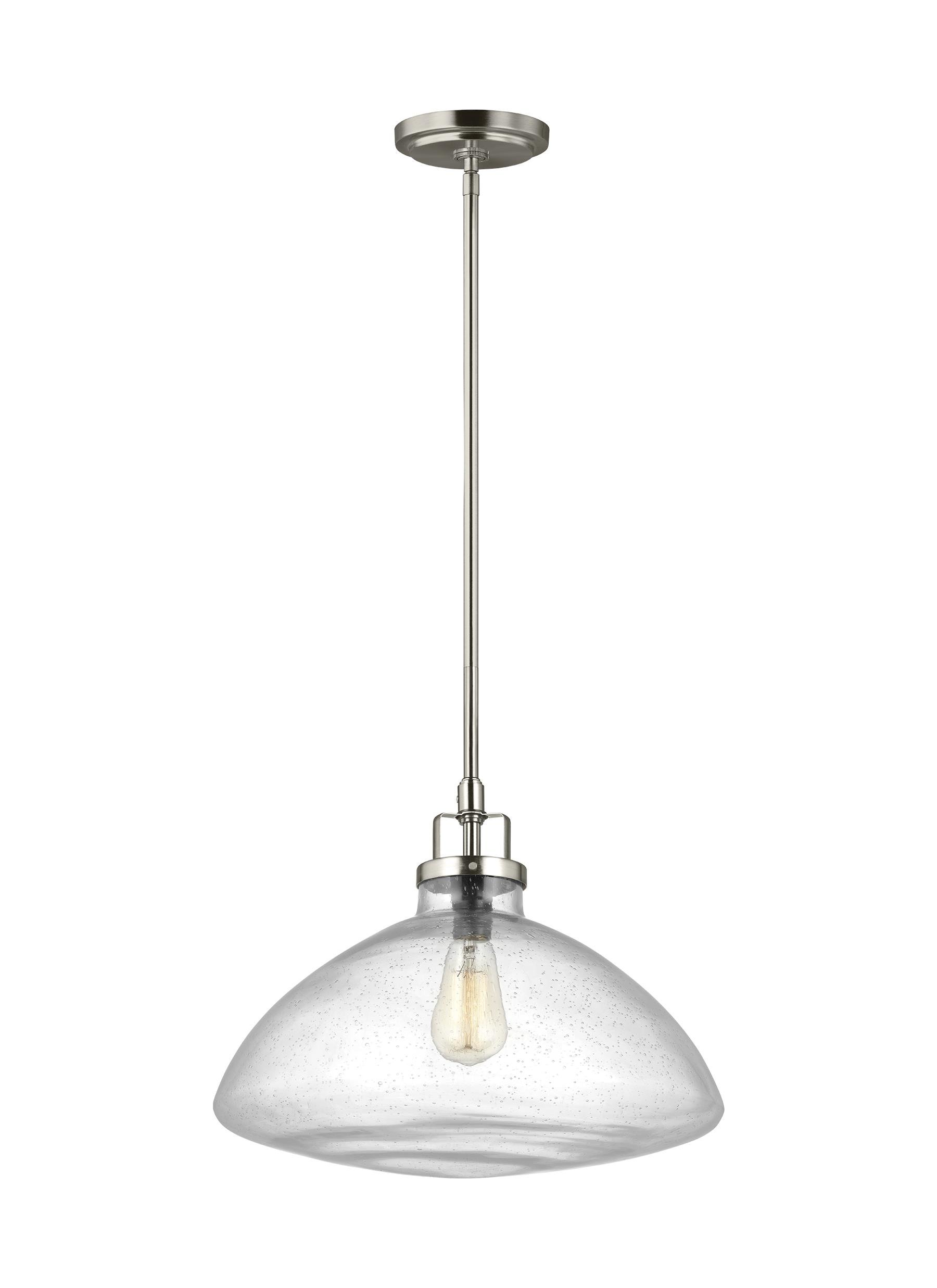 Houon 1-Light Single Schoolhouse Pendant in Most Current Granville 3-Light Single Dome Pendants