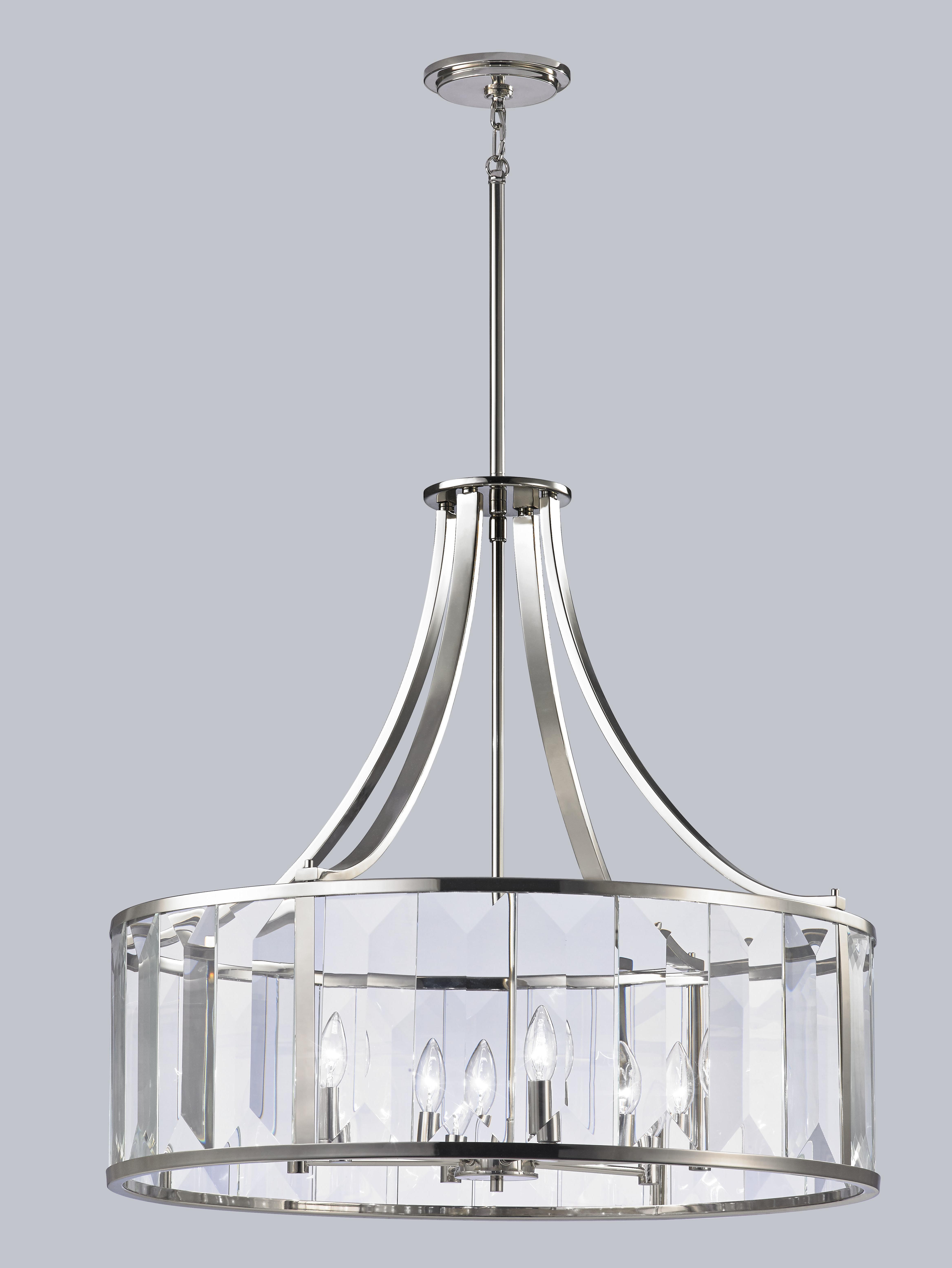 House Of Hampton Sylvia 6 Light Lantern Pendant Intended For Fashionable Nisbet 4 Light Lantern Geometric Pendants (Gallery 19 of 25)