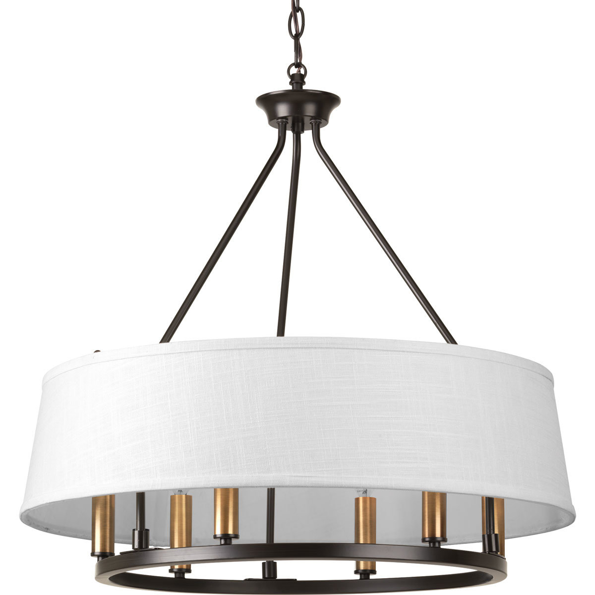 Hughett 6-Light Drum Chandelier throughout 2020 Harlan 5-Light Drum Chandeliers
