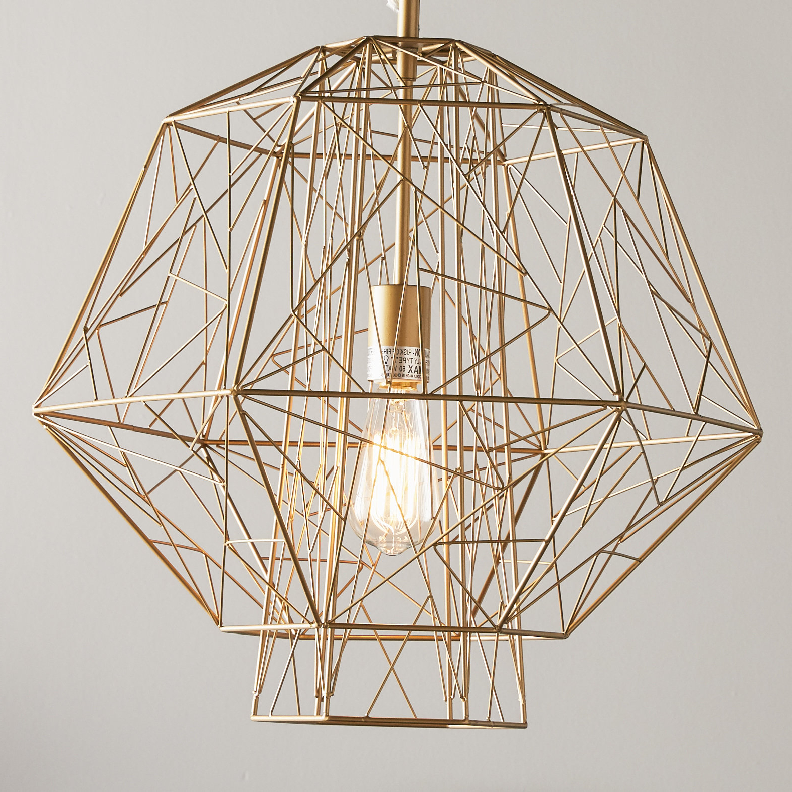 Hydetown 1 Light Single Geometric Pendant Within 2020 Hydetown 1 Light Single Geometric Pendants (Gallery 2 of 25)