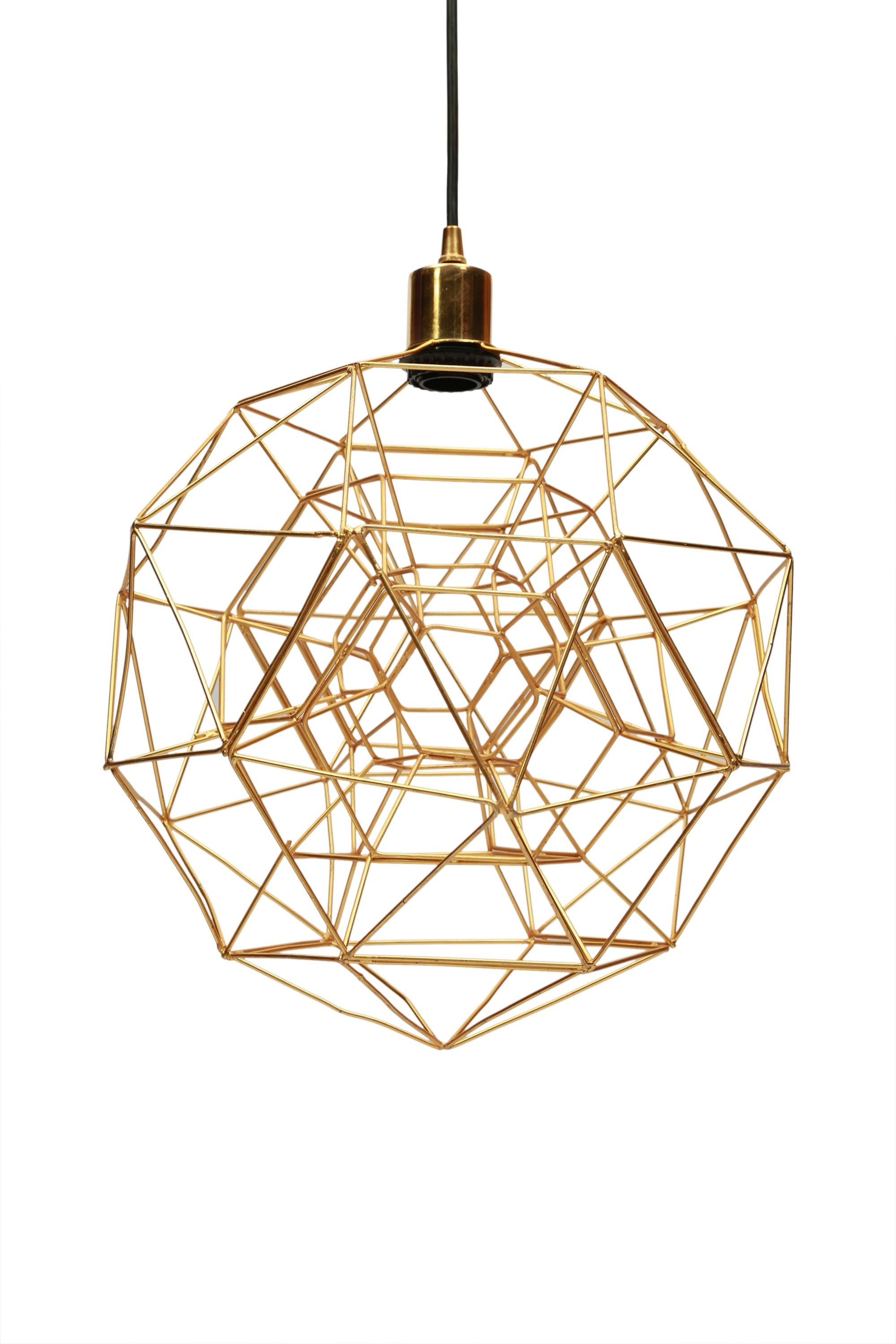 Hydetown 1-Light Single Geometric Pendants throughout 2019 Tinney 1-Light Geometric Pendant