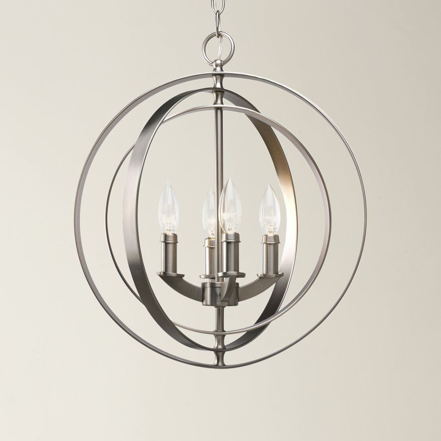 Ideas For New House throughout Fashionable La Barge 3-Light Globe Chandeliers