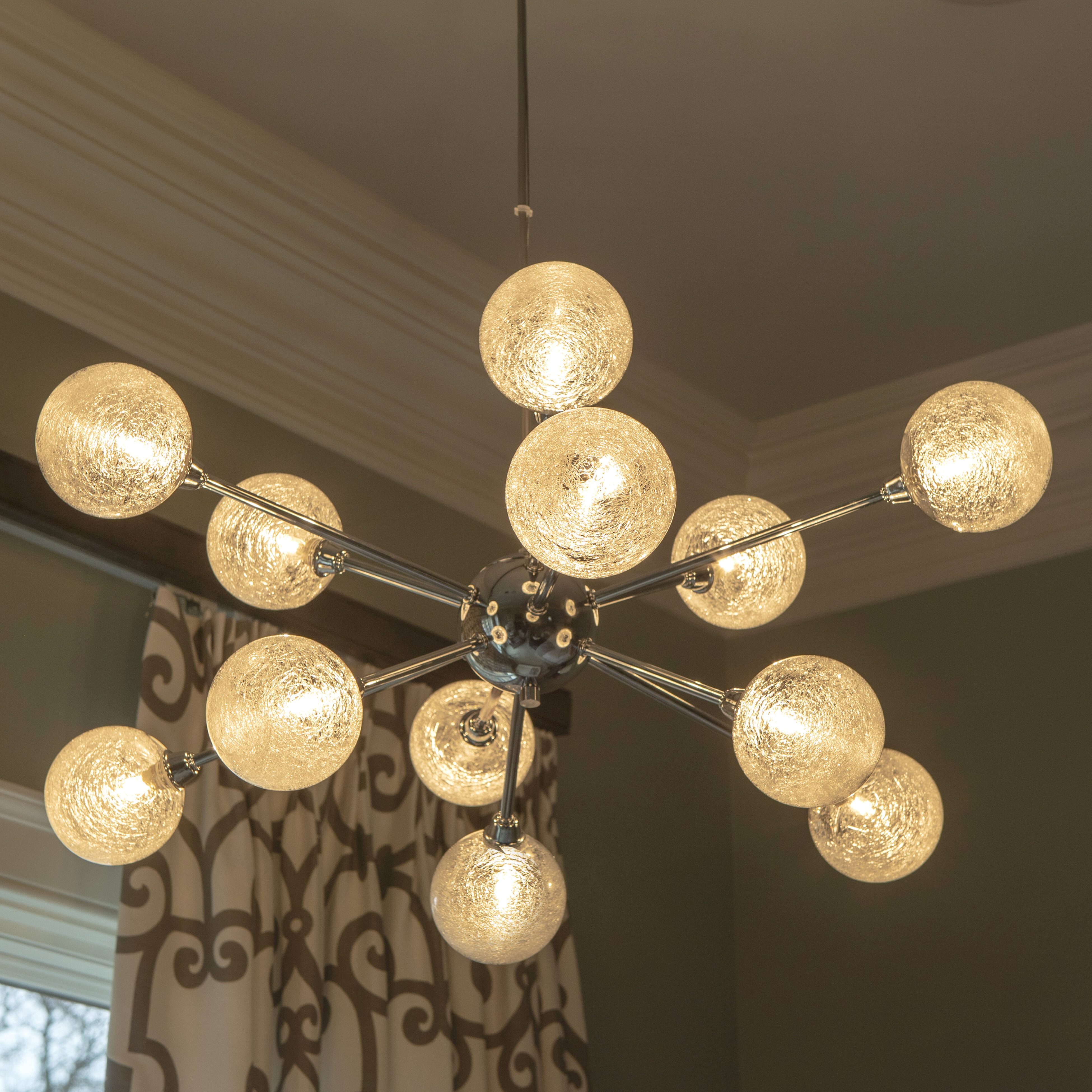 Ike 12-Light Sputnik Chandelier intended for Most Up-to-Date Asher 12-Light Sputnik Chandeliers