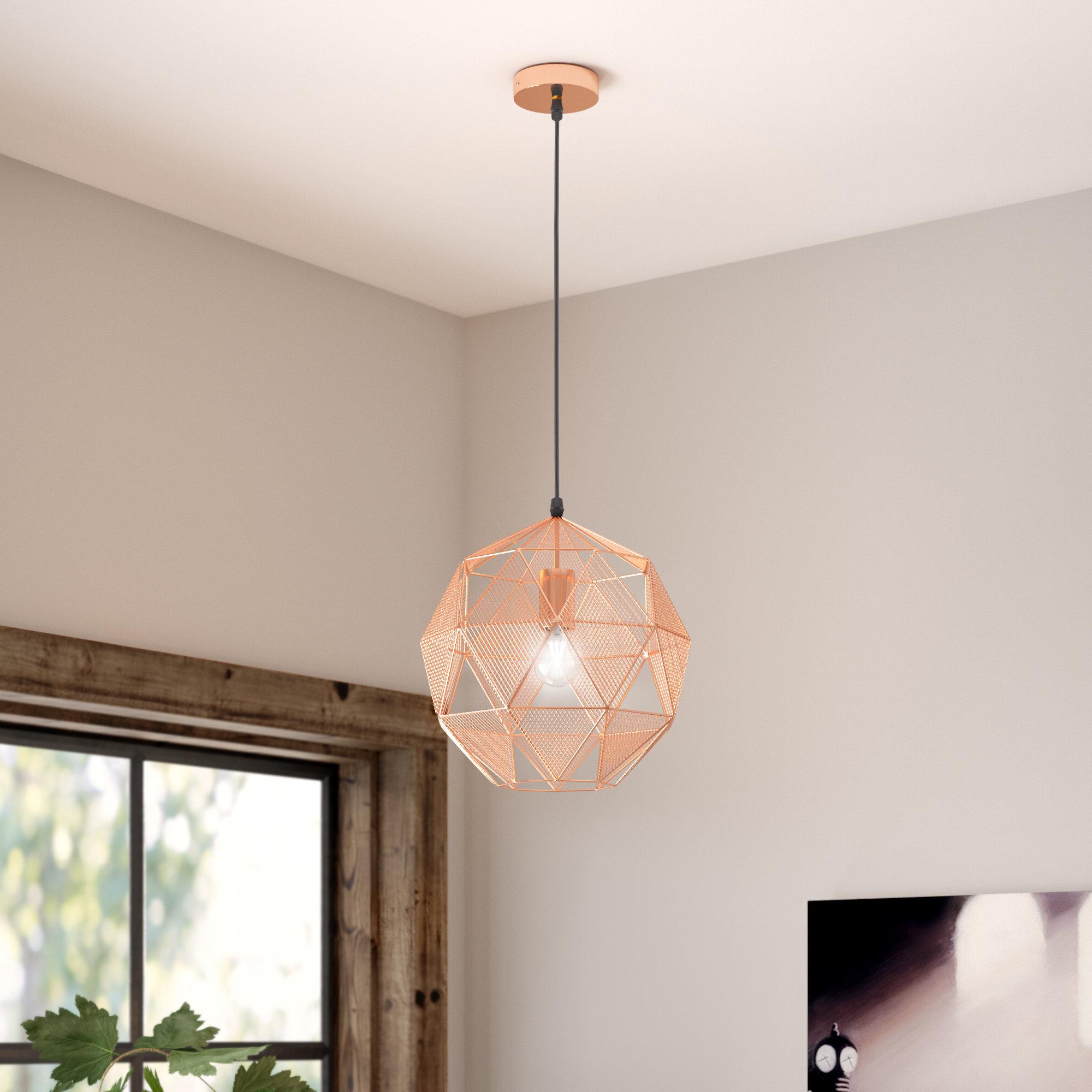 Immanuel 1 Light Geometric Pendant With Regard To Recent 1 Light Geometric Globe Pendants (View 6 of 25)