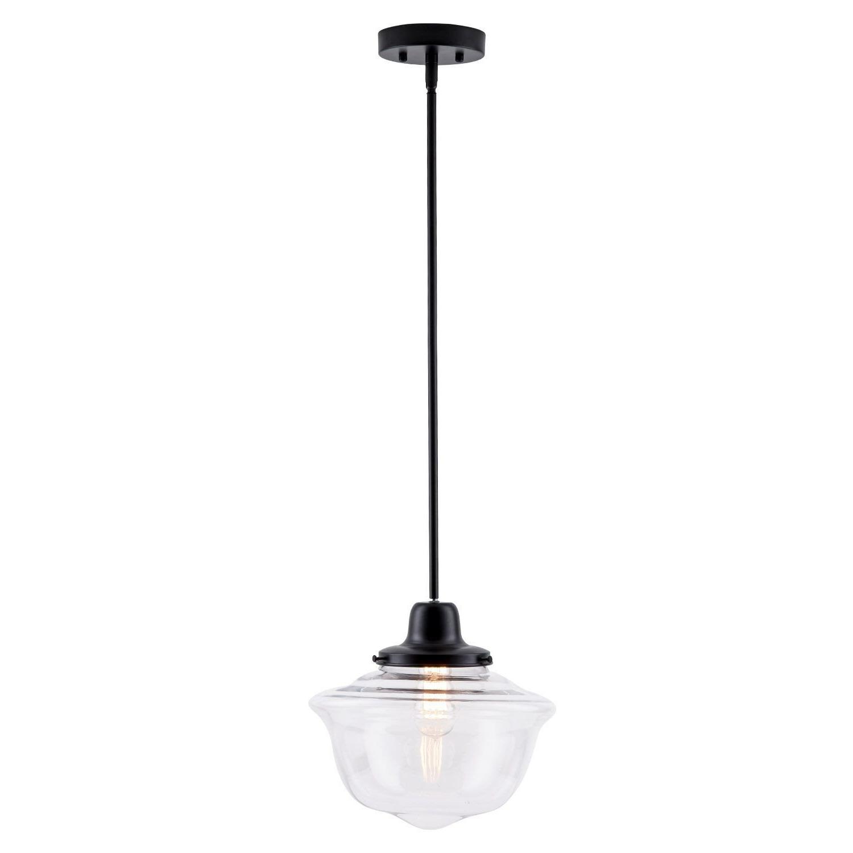 Isaiah 1-Light Single Schoolhouse Pendant for Famous Roslindale 1-Light Single Bell Pendants