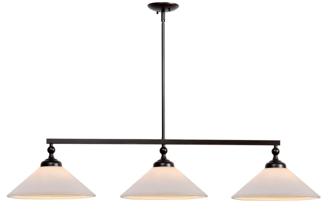 Island Intended For Euclid 2 Light Kitchen Island Linear Pendants (Gallery 12 of 25)