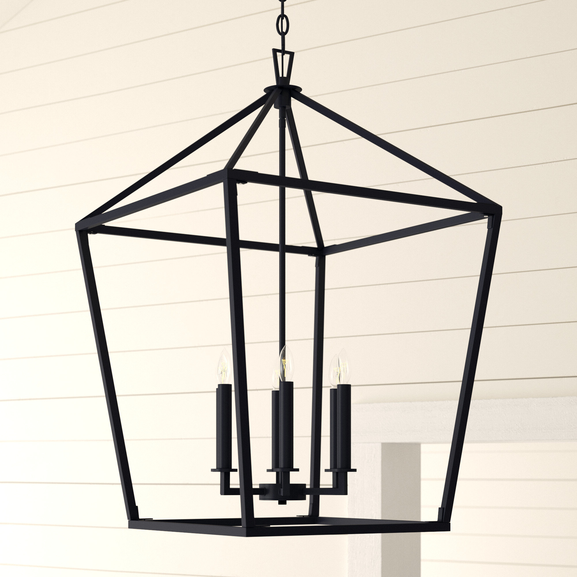 Israel 6-Light Lantern Geometric Pendant throughout Trendy William 4-Light Lantern Square / Rectangle Pendants