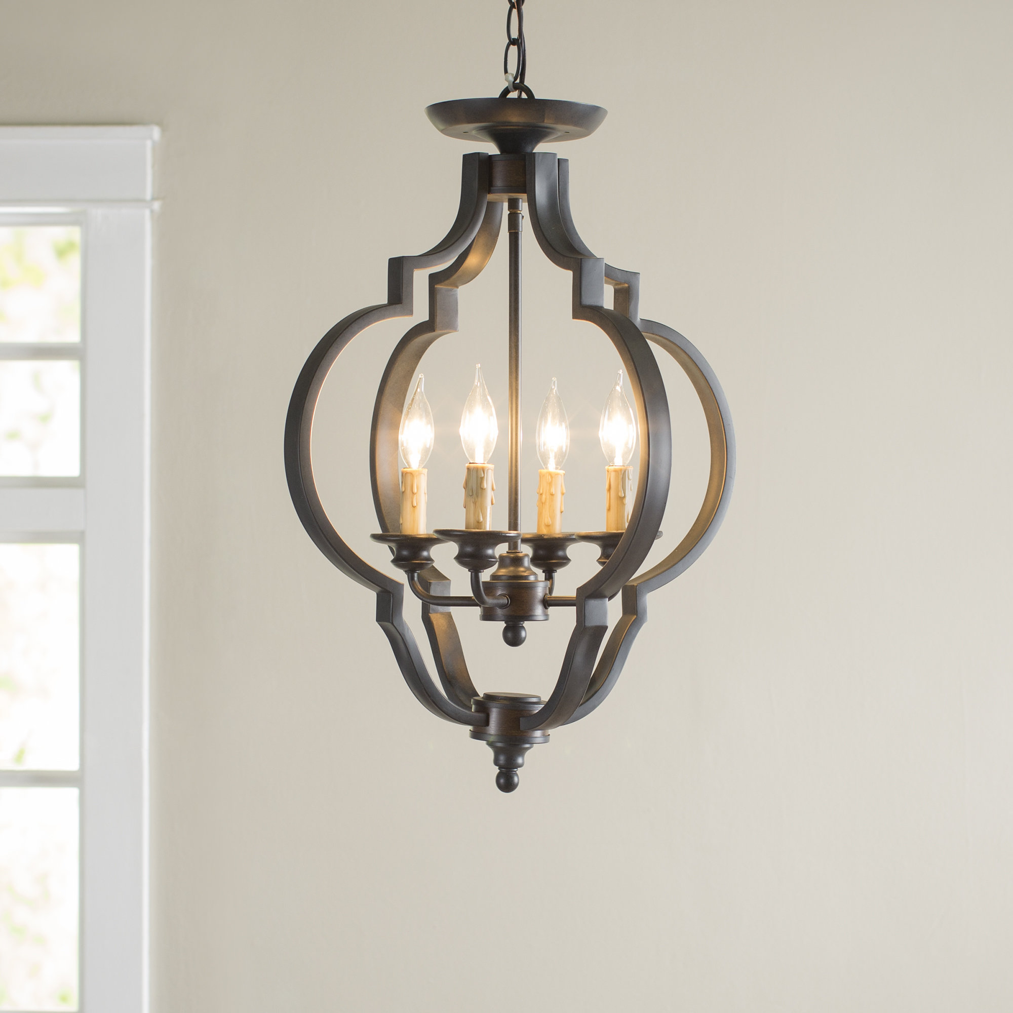 Jamesburg 4 Light Semi Flush Mount With Regard To Trendy Kaycee 4 Light Geometric Chandeliers (View 11 of 25)