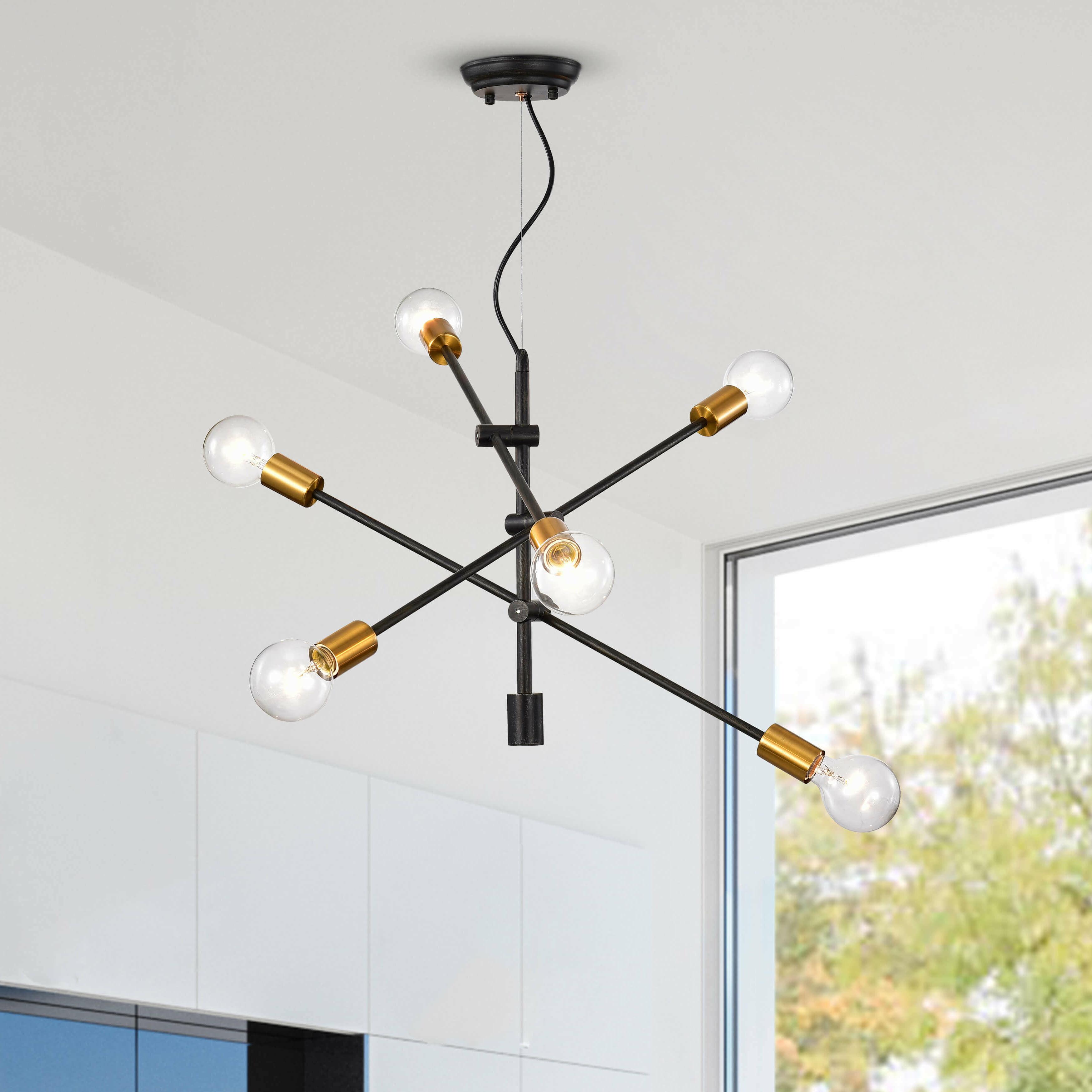Johanne 6 Light Sputnik Chandeliers Intended For Popular Hillard 6 Light Sputnik Chandelier (View 11 of 25)