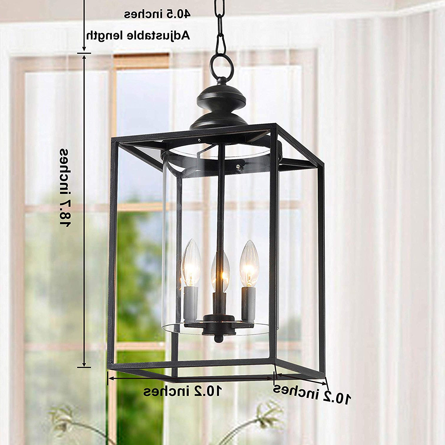 Jojospring La Pedriza Antique Black 3 Light Glass And Metal Chandelier With Regard To Well Known La Barge 3 Light Globe Chandeliers (View 15 of 25)