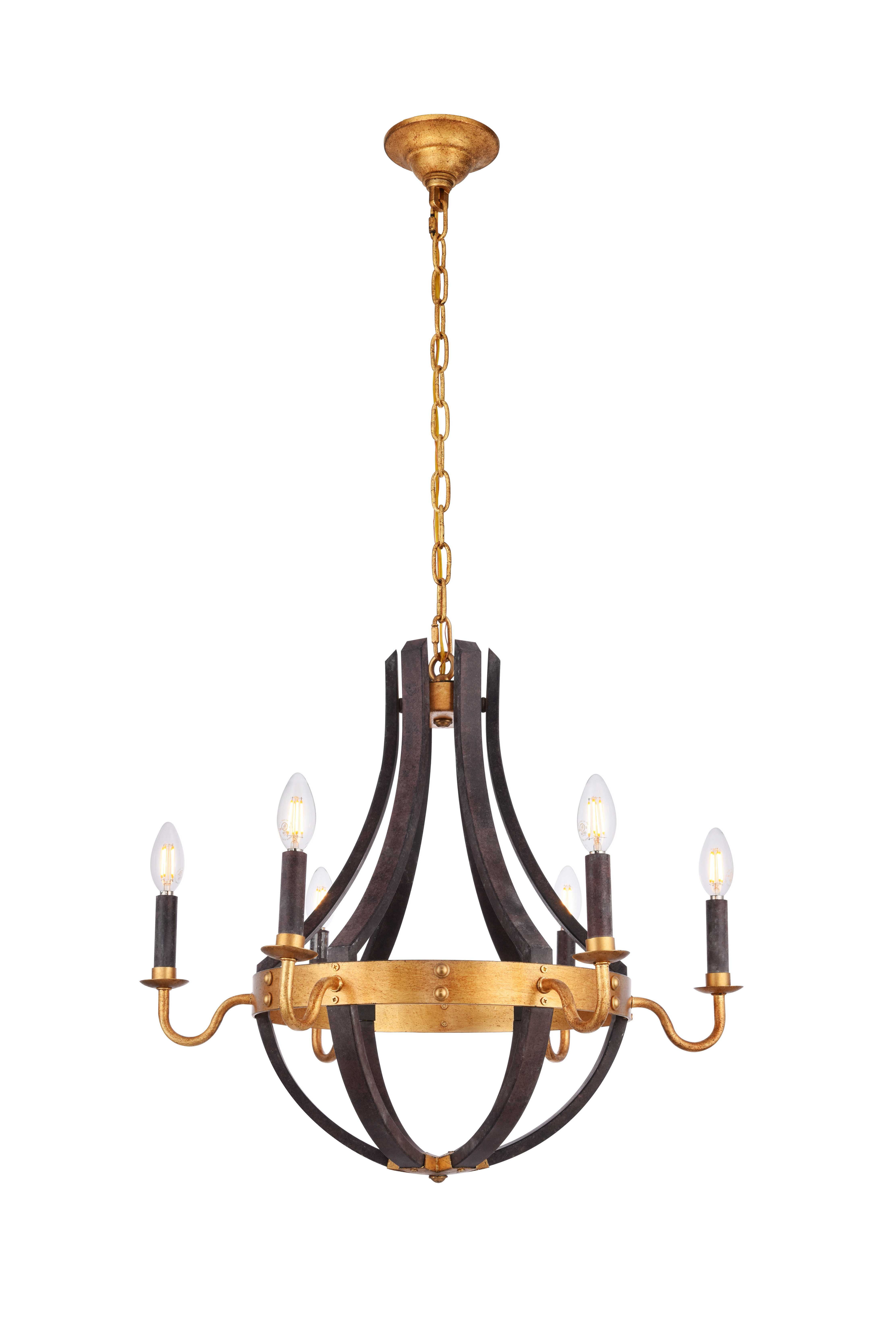 Karteek 6-Light Empire Chandelier pertaining to Well-known Dilley 1-Light Unique / Statement Geometric Pendants