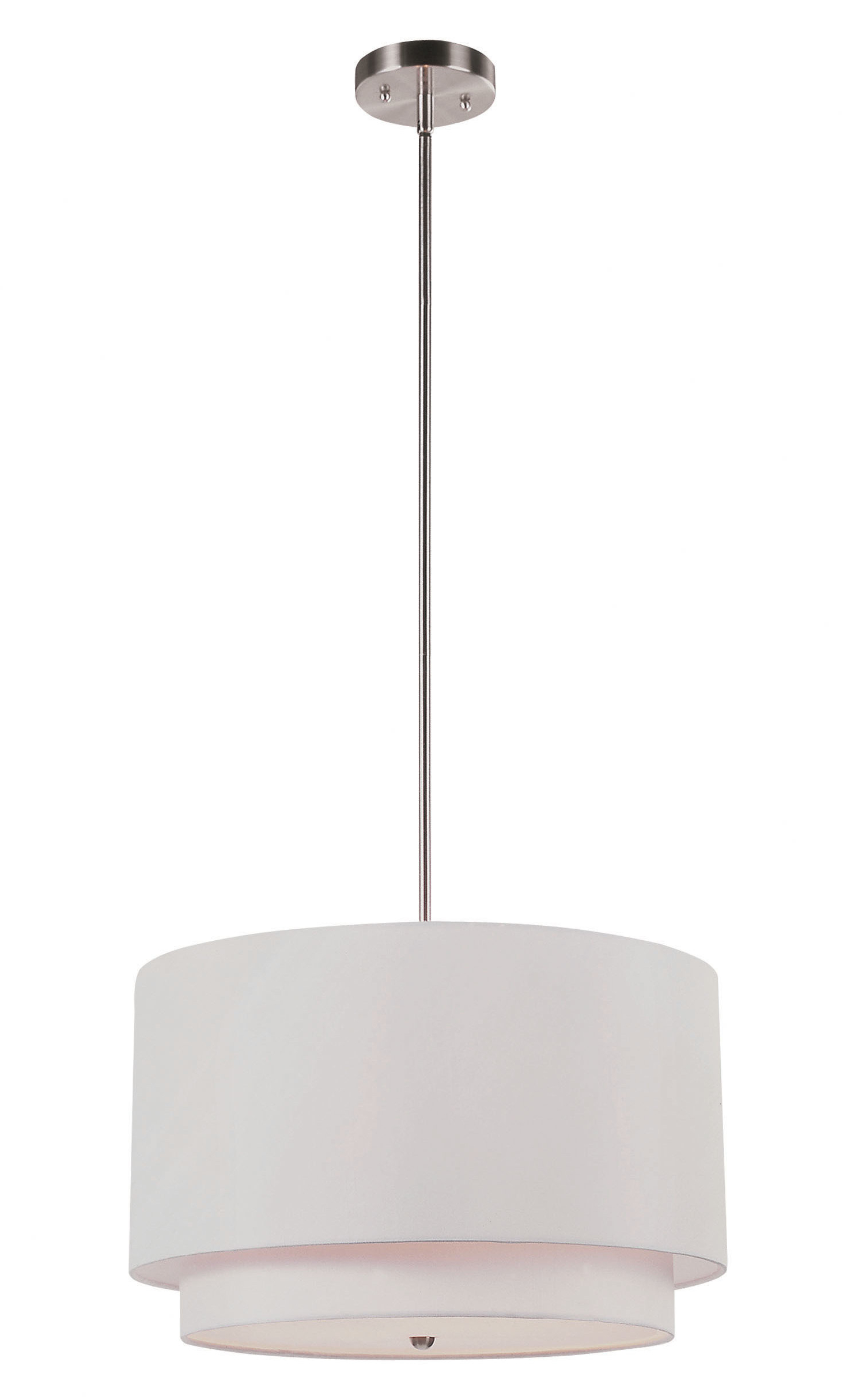 Kasey 3 Light Single Drum Pendants Pertaining To Best And Newest Friedland 3 Light Drum Tiered Pendant (View 12 of 25)